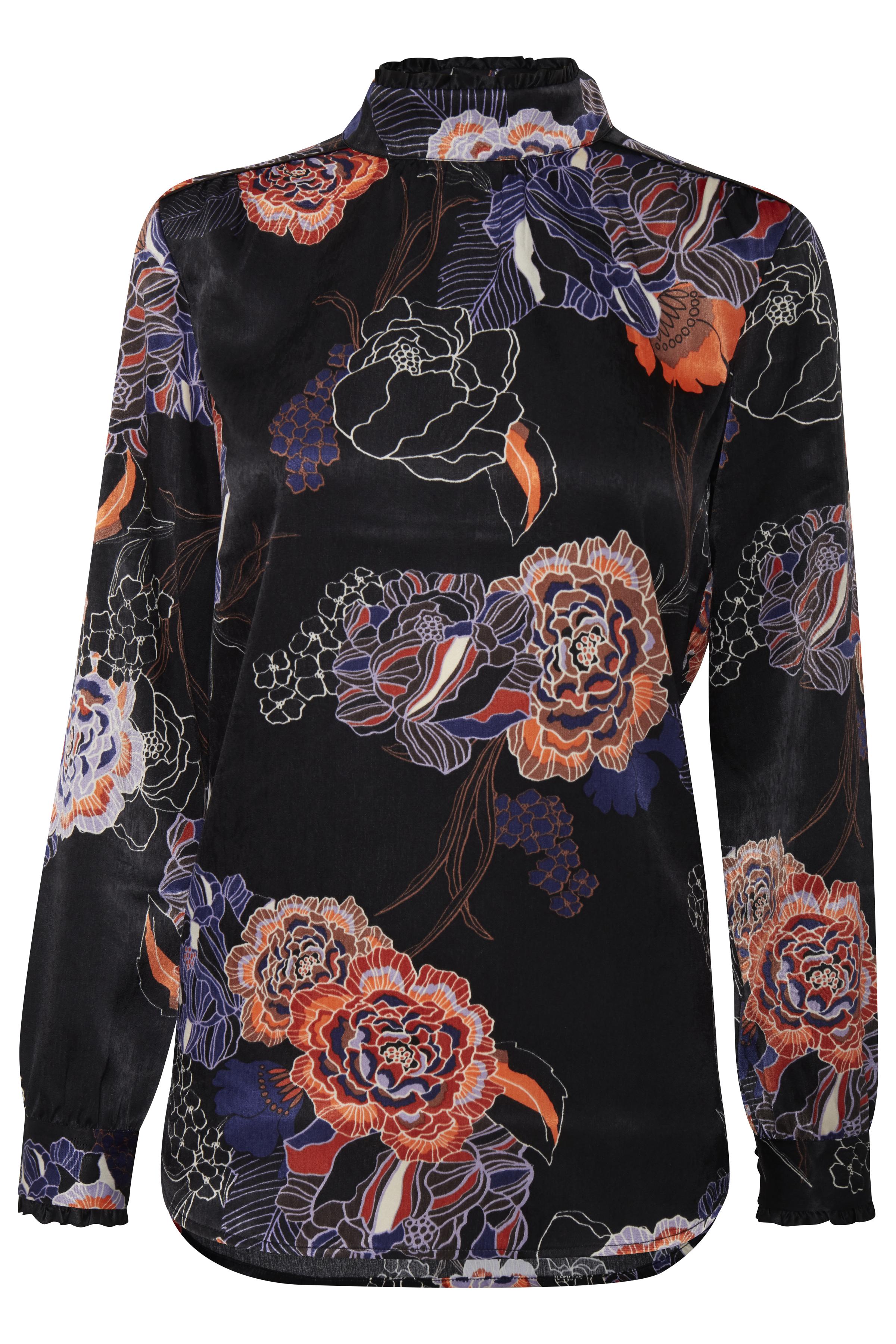 Sort/rød Langærmet bluse fra Pulz Jeans – Køb Sort/rød Langærmet bluse fra str. XS-XXL her