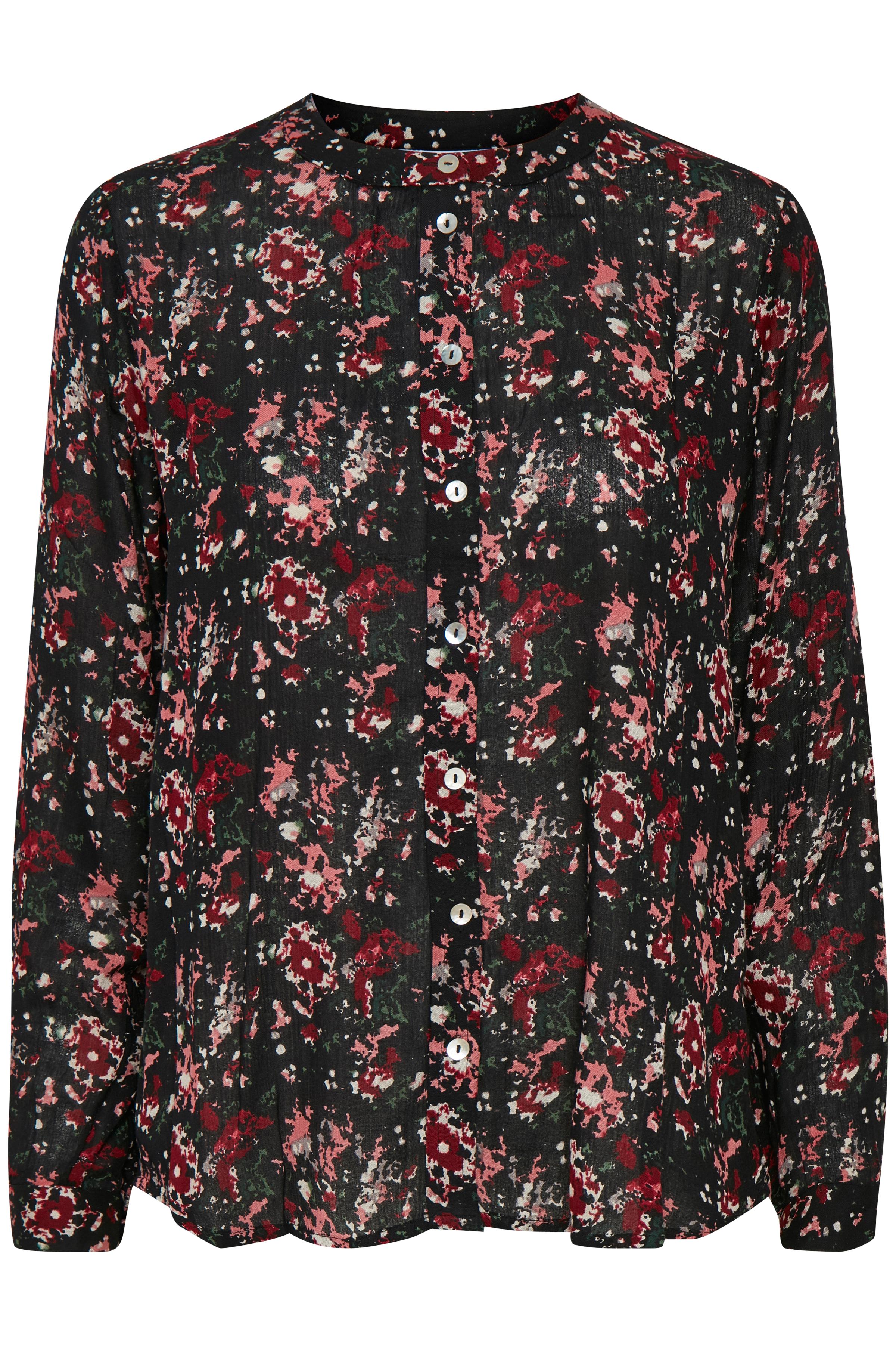 Sort/rød Langærmet skjorte fra Kaffe – Køb Sort/rød Langærmet skjorte fra str. 34-46 her