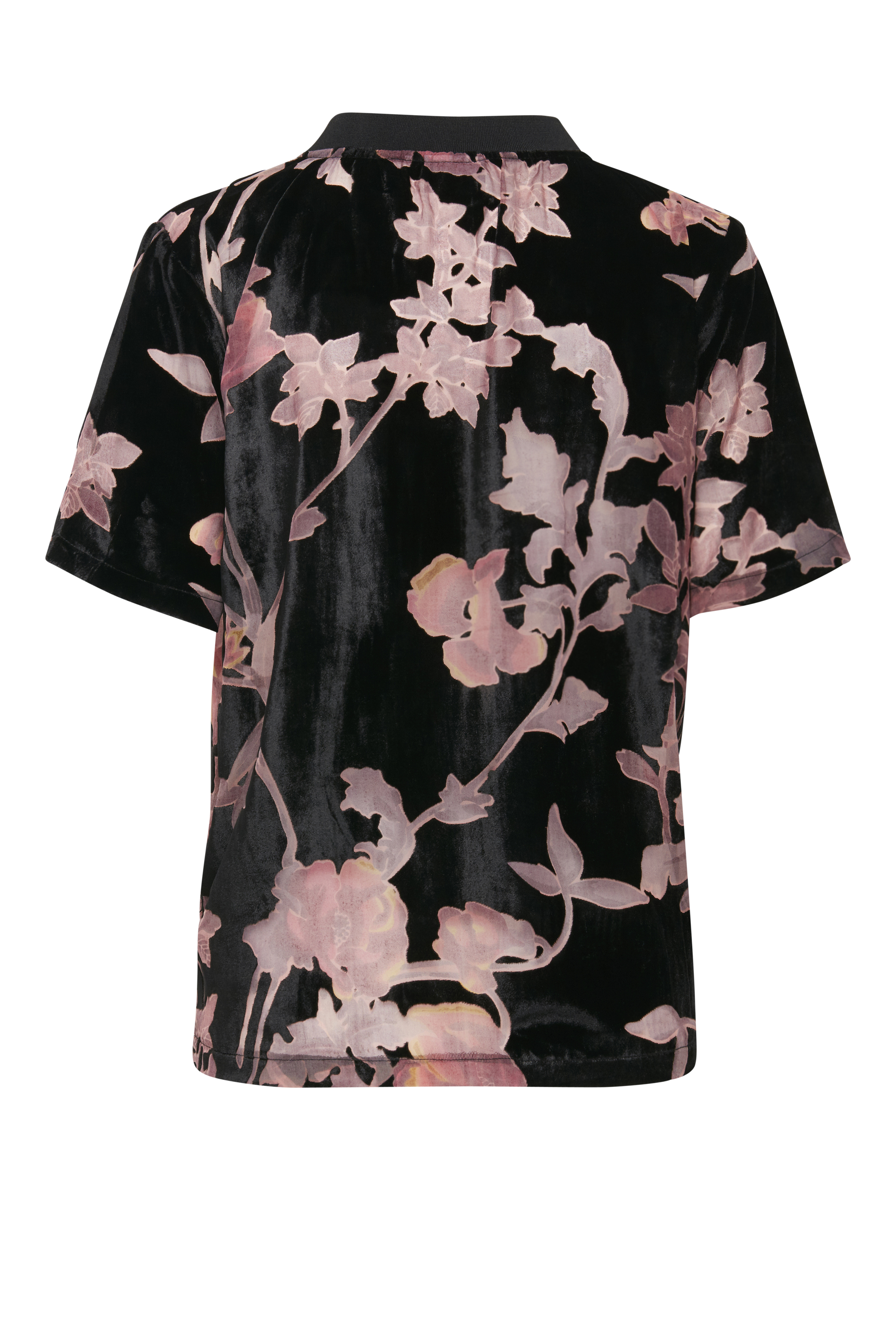 Sort/rosa Kortærmet bluse  fra b.young – Køb Sort/rosa Kortærmet bluse  fra str. 34-46 her