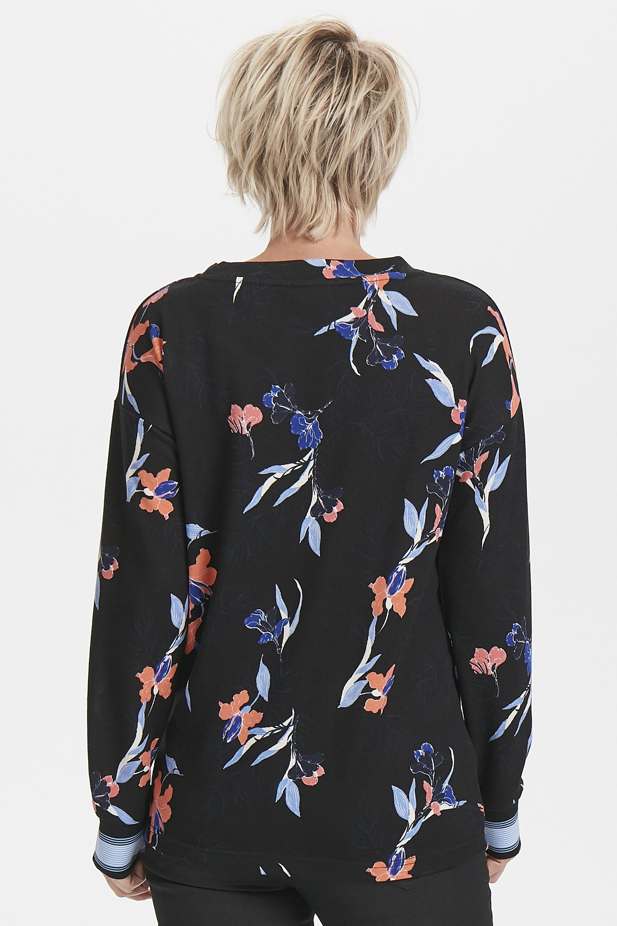 Sort/rosa Langærmet bluse fra b.young – Køb Sort/rosa Langærmet bluse fra str. XS-XXL her