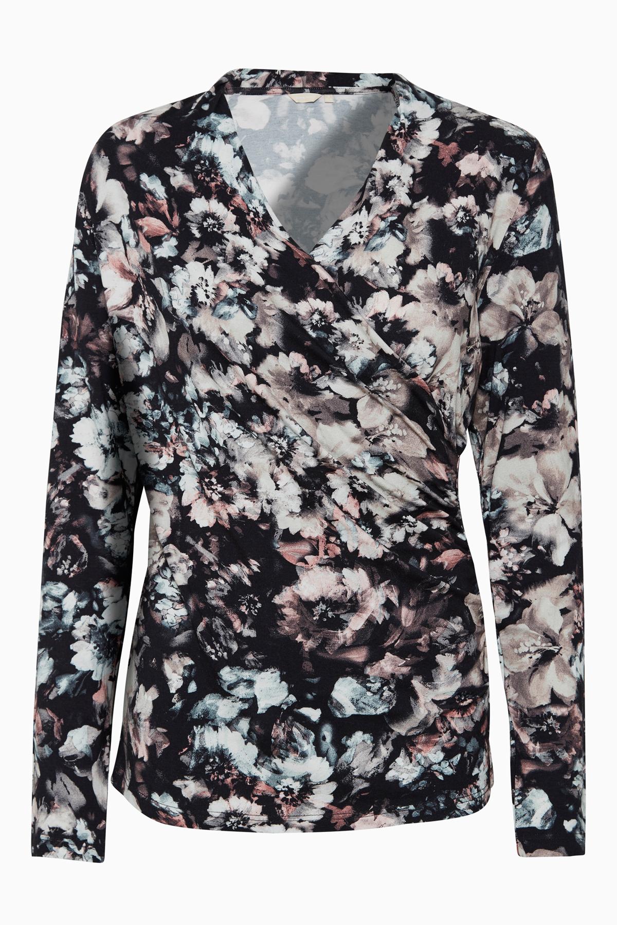 Sort/rosa Langærmet bluse fra Bon'A Parte – Køb Sort/rosa Langærmet bluse fra str. S-3XL her