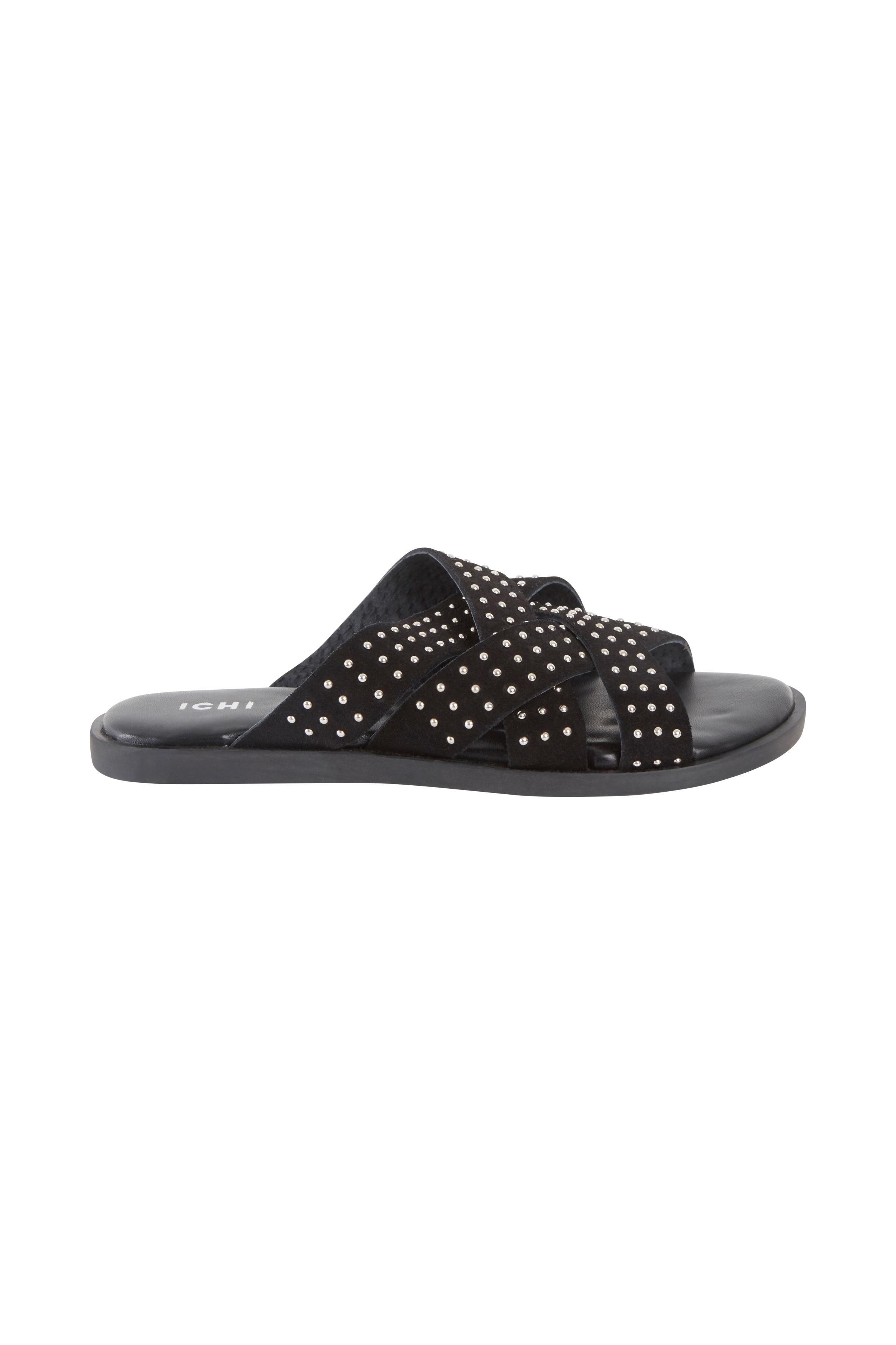 Ichi - accessories Dame Flotte flade Cairo sandaler - Sort