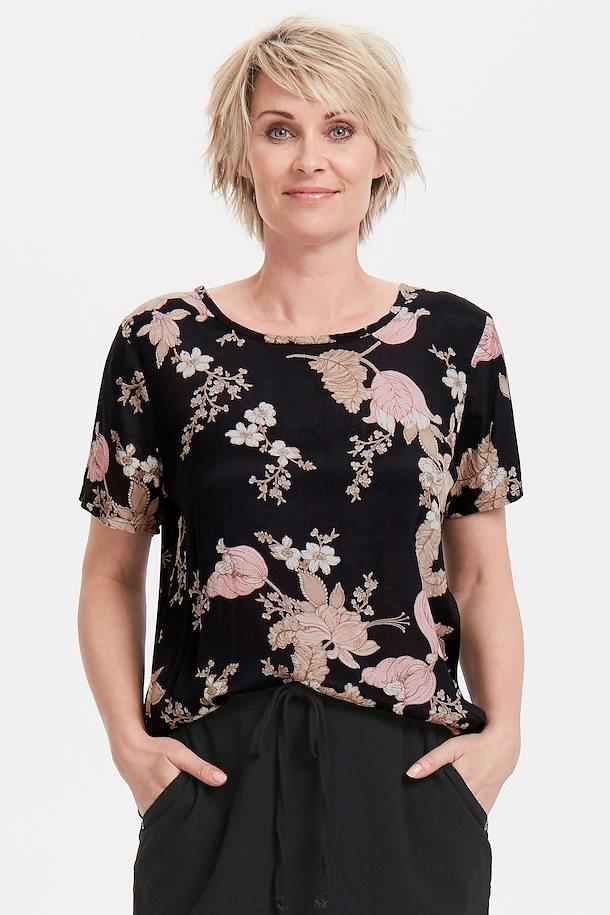bec3628b Sort/sand Kortærmet bluse fra Kaffe – Køb Sort/sand Kortærmet bluse fra str.  34-46 her