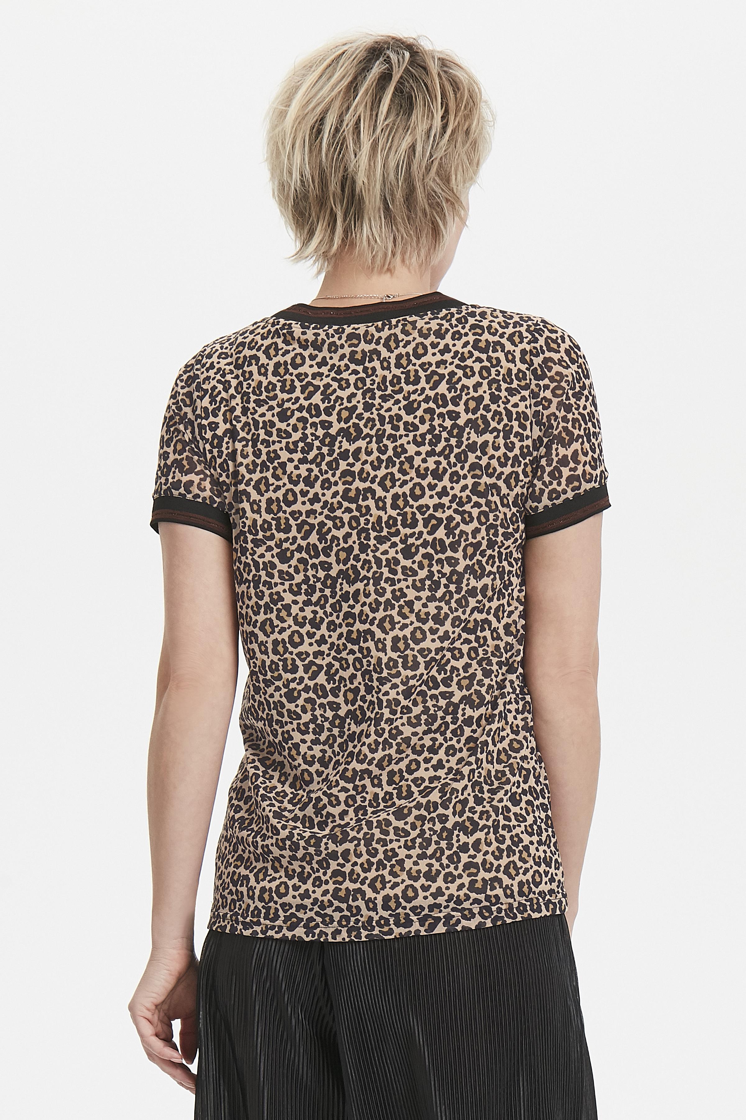 Sort/sand Kortærmet bluse fra Bon'A Parte – Køb Sort/sand Kortærmet bluse fra str. S-2XL her