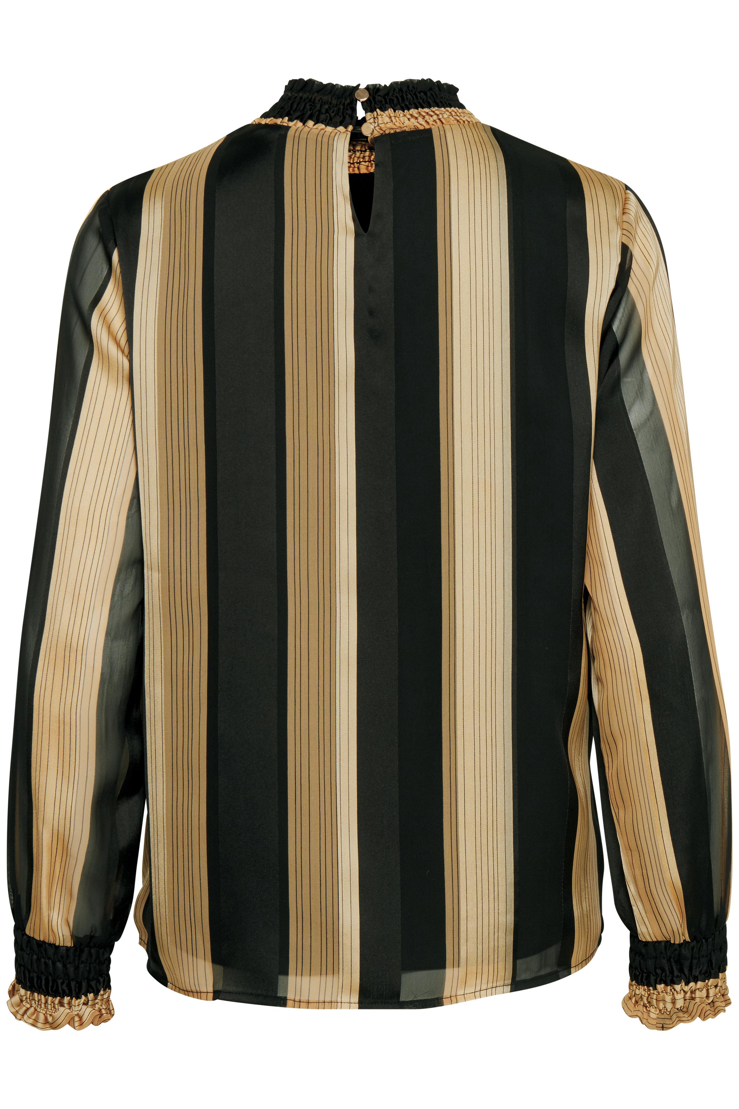 Sort/sand Langærmet bluse  fra Fransa – Køb Sort/sand Langærmet bluse  fra str. XS-XXL her