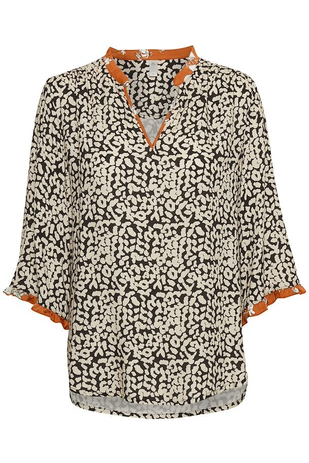 100e40d1 Sort/sand Langærmet bluse fra Culture – Køb Sort/sand Langærmet bluse fra  str. XS-XXL her