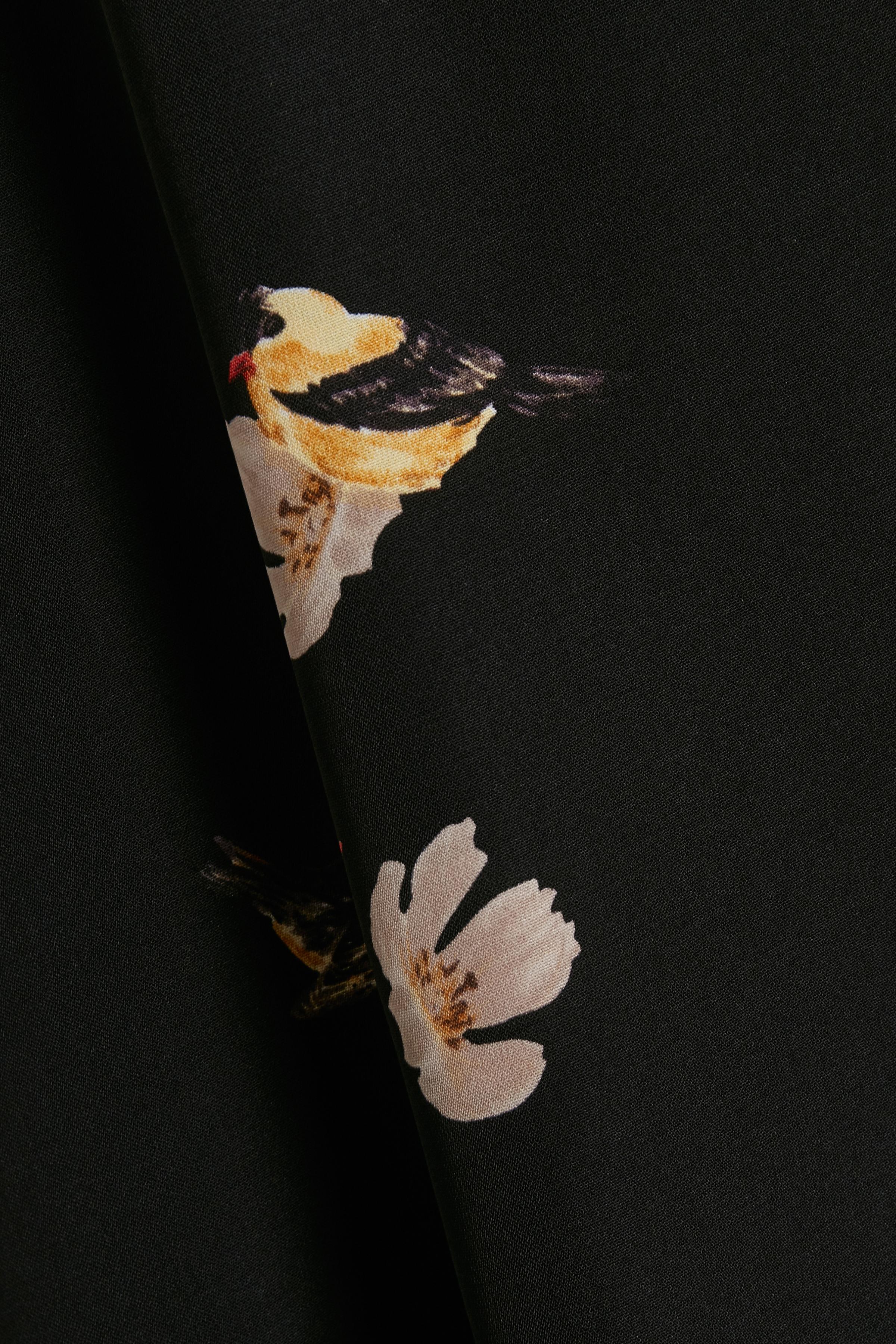 Sort/sand Nederdel fra Kaffe – Køb Sort/sand Nederdel fra str. 34-46 her