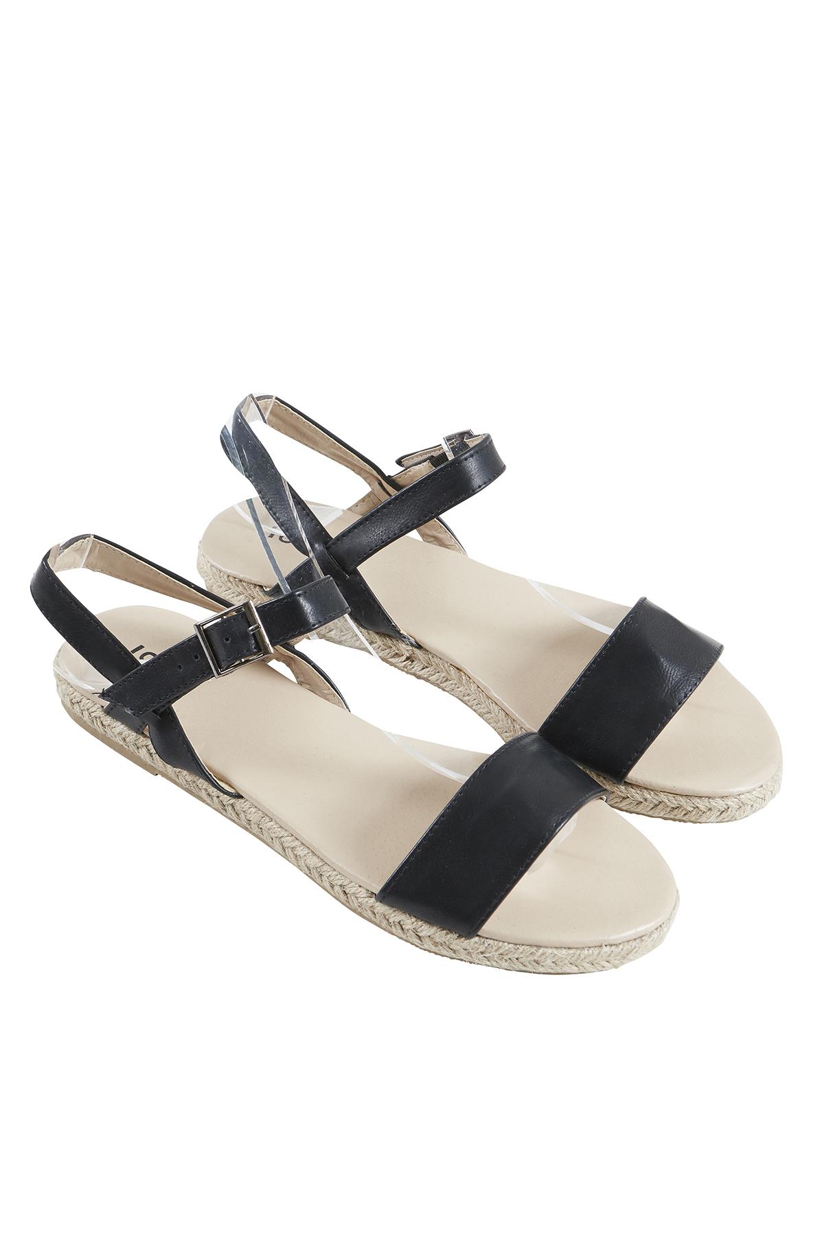 Image of   Ichi - accessories Dame Sandal - Sort
