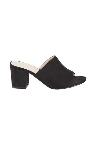 Ichi - accessories Dame Super fin slip-in sandal - Sort