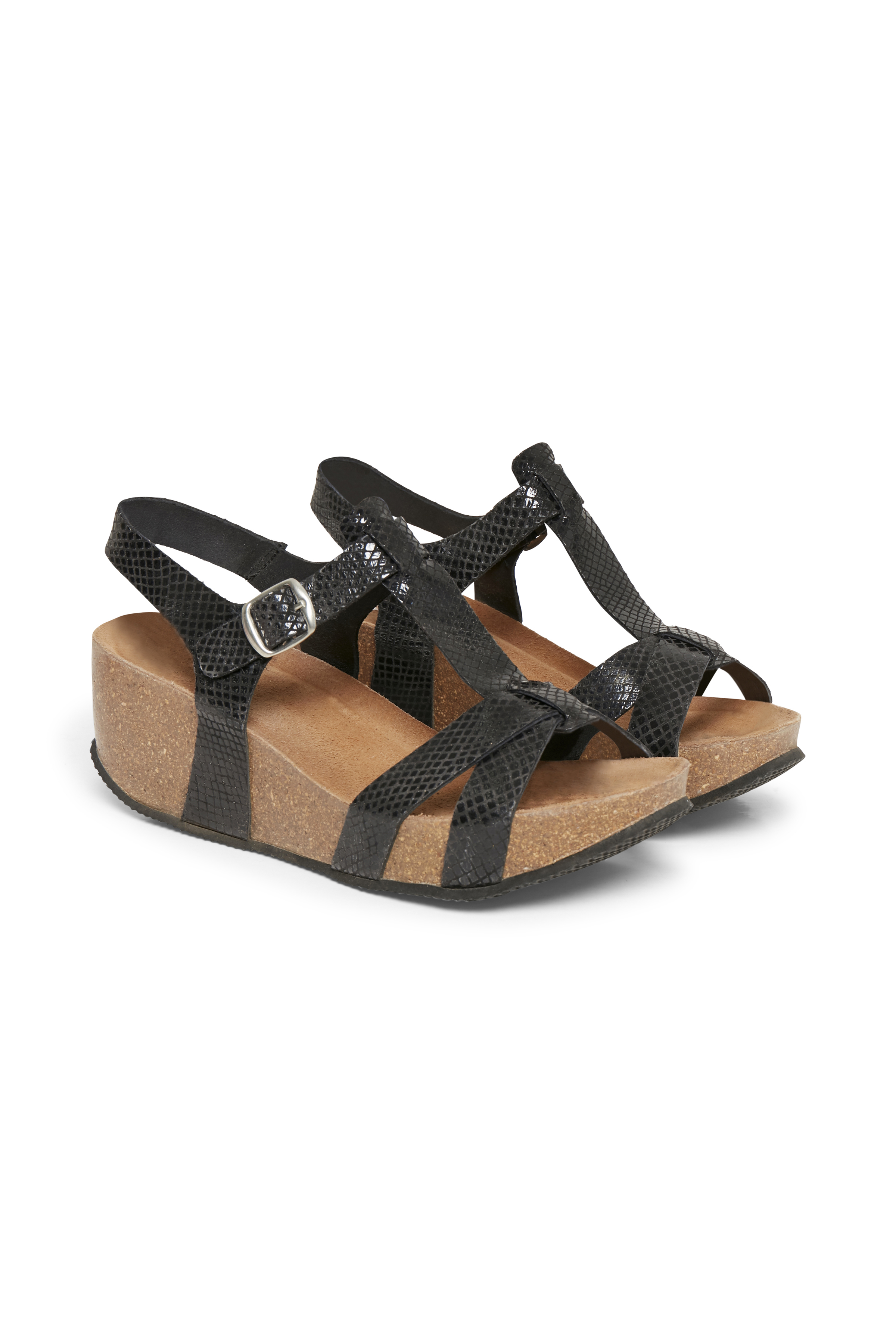 Cream Dame Sandal - Sort