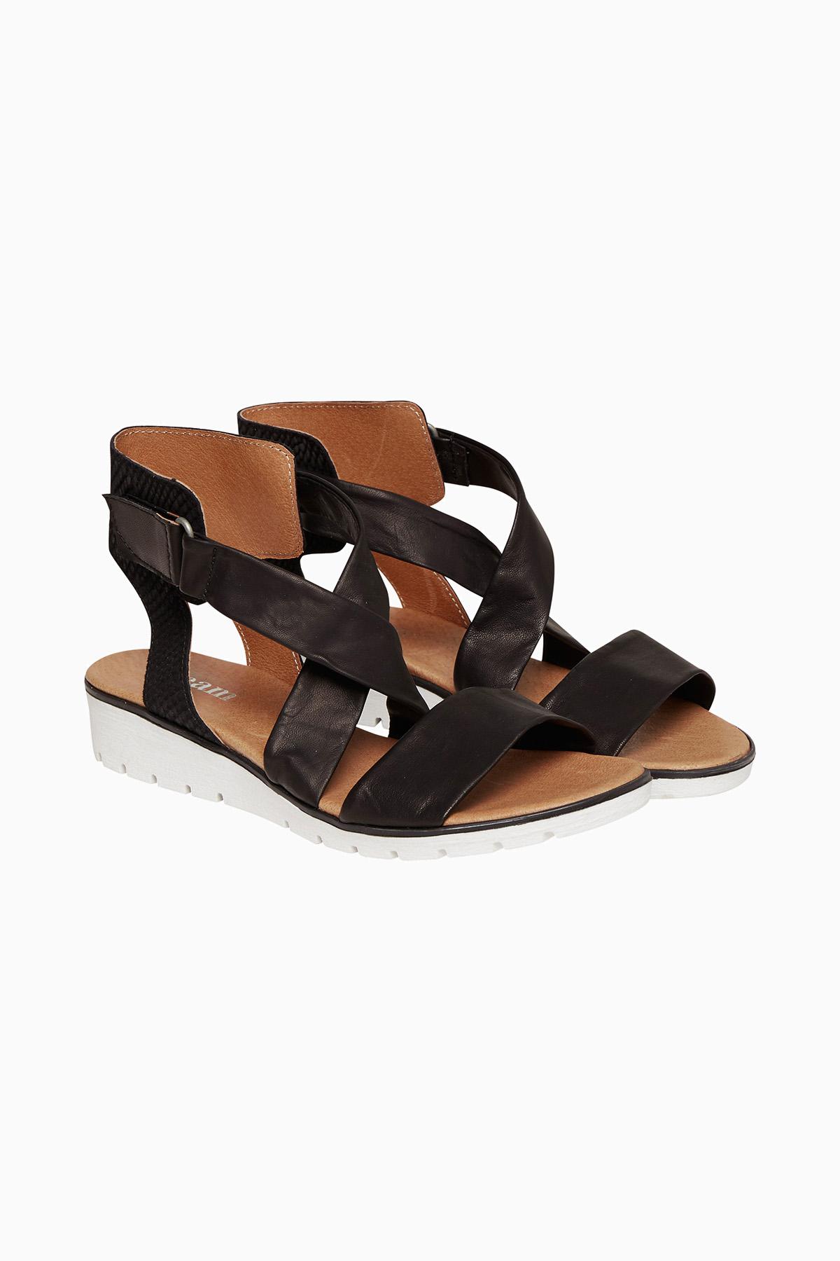 Cream Dame Meget flot Melina sandal - Sort