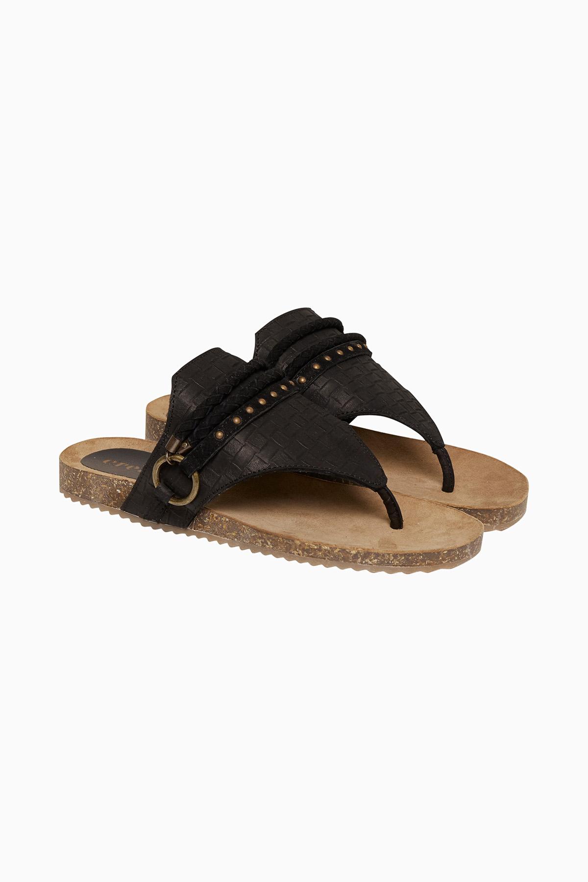 Cream Dame Fin Chloe sandal i 100% læder - Sort