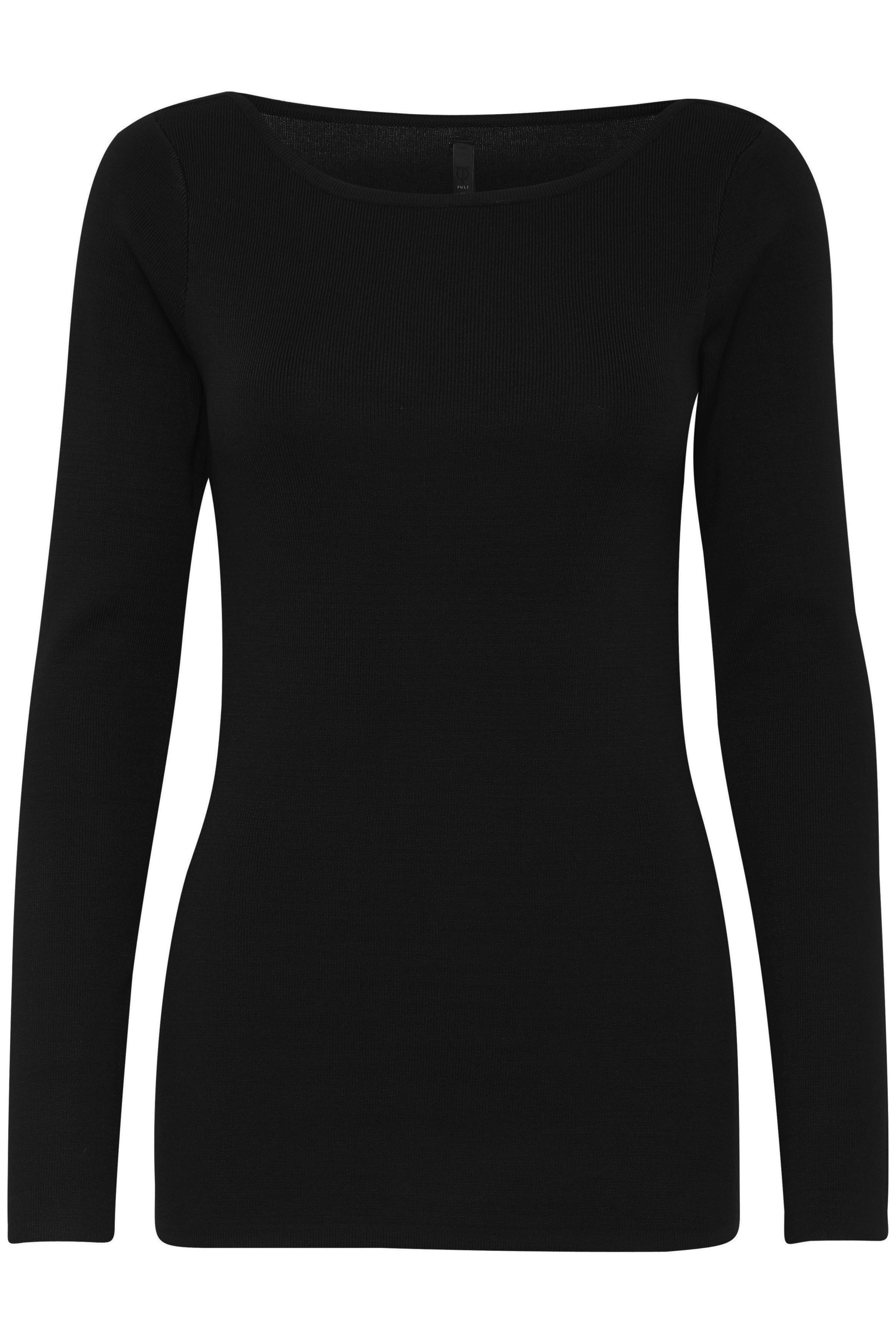 Image of   Pulz Jeans Dame Ribstrikket trøje - Sort