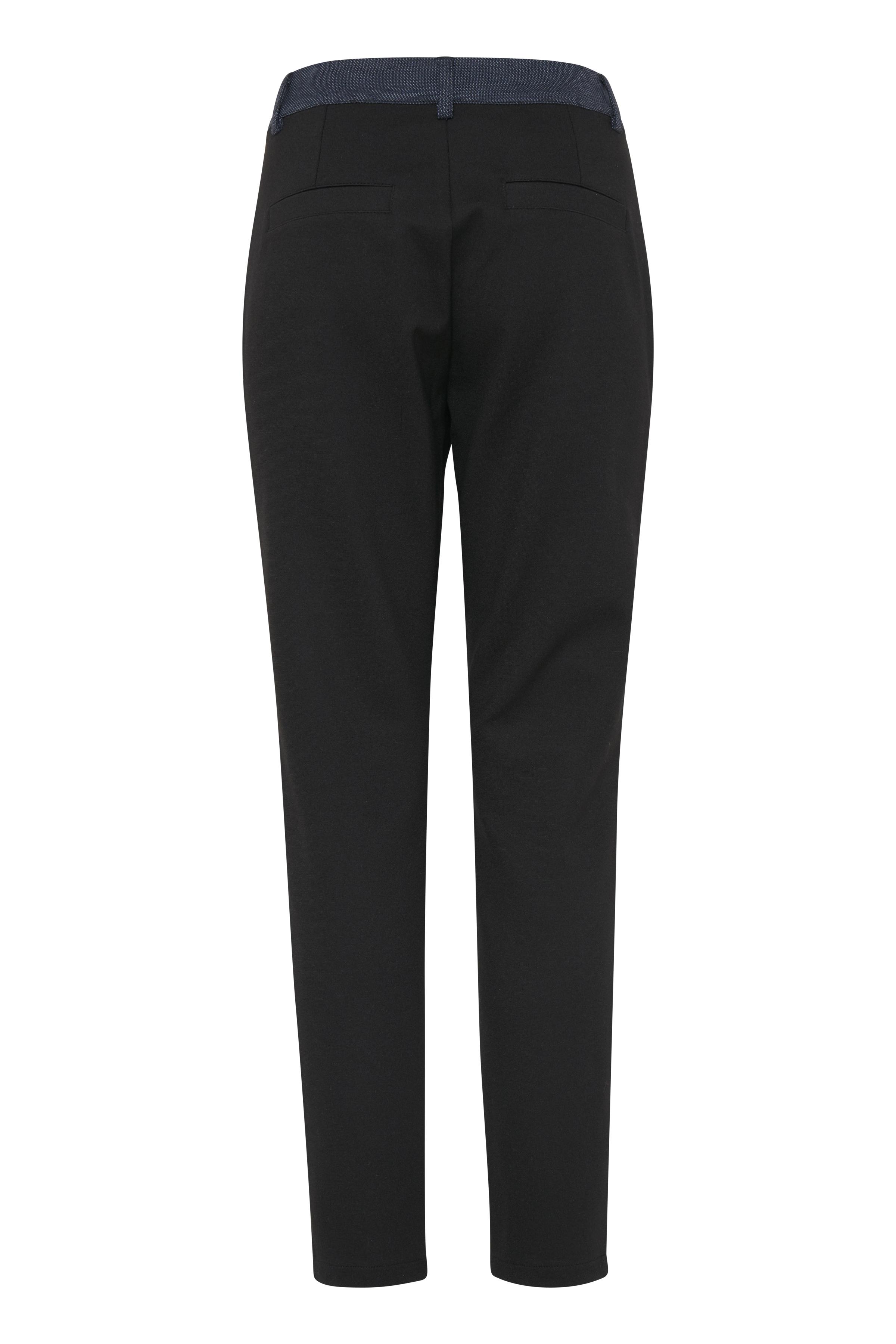 Sortmeleret Casual bukser fra Pulz Jeans – Køb Sortmeleret Casual bukser fra str. 32-46 her