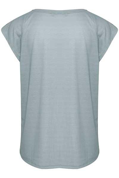 Staubblau Kurzarm T-Shirt von Bon'A Parte – Shoppen Sie Staubblau Kurzarm T-Shirt ab Gr. S-2XL hier