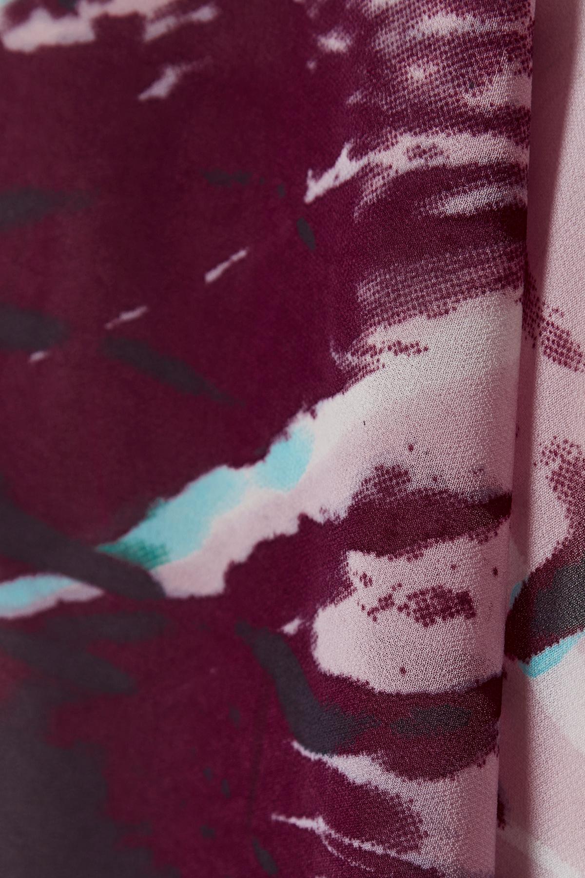 Staubrosa/bordeaux Kurzarm-Bluse von Bon'A Parte – Shoppen Sie Staubrosa/bordeaux Kurzarm-Bluse ab Gr. S-3XL hier