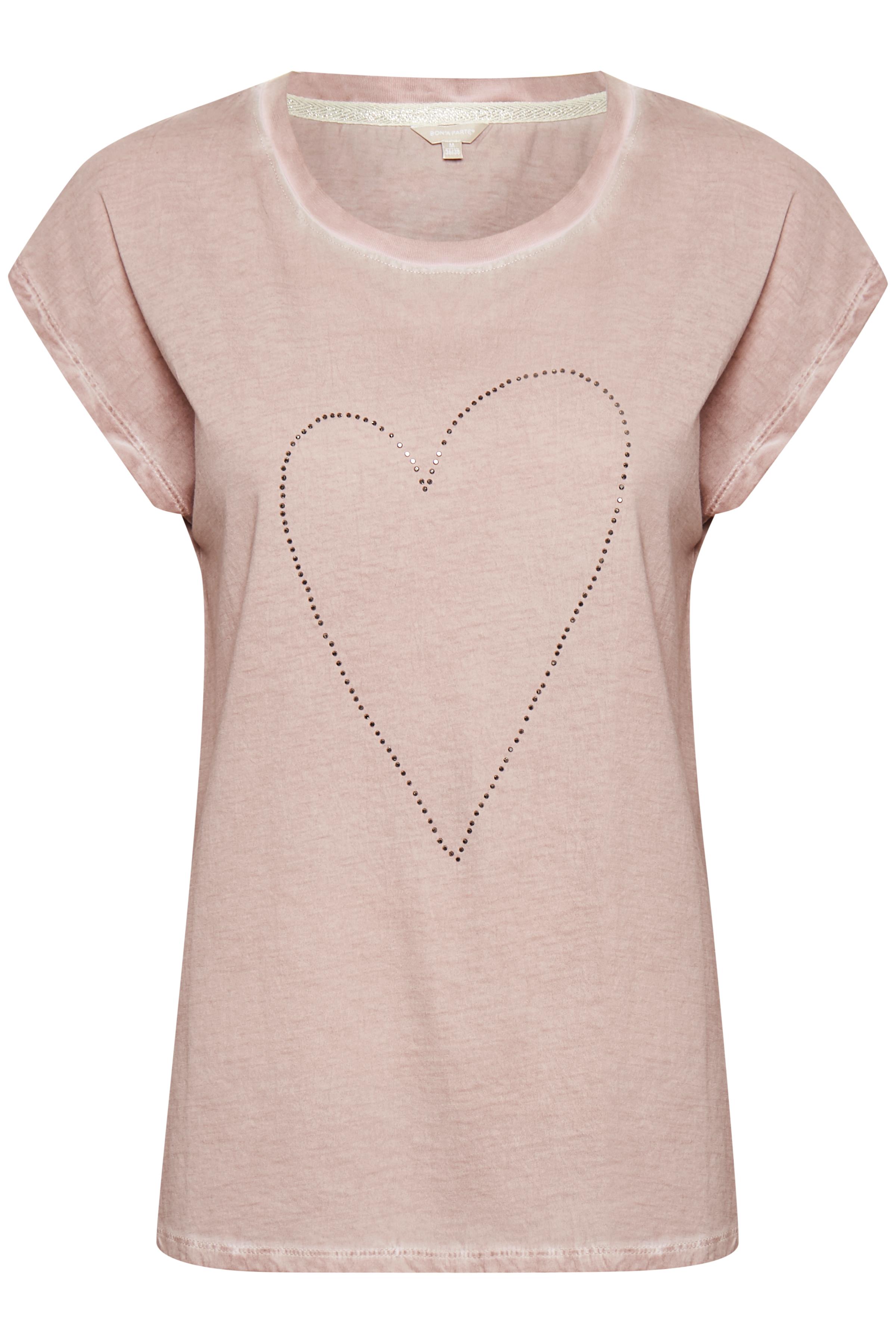 Staubrosa Kurzarm-Shirt von Bon'A Parte – Shoppen Sie Staubrosa Kurzarm-Shirt ab Gr. S-2XL hier