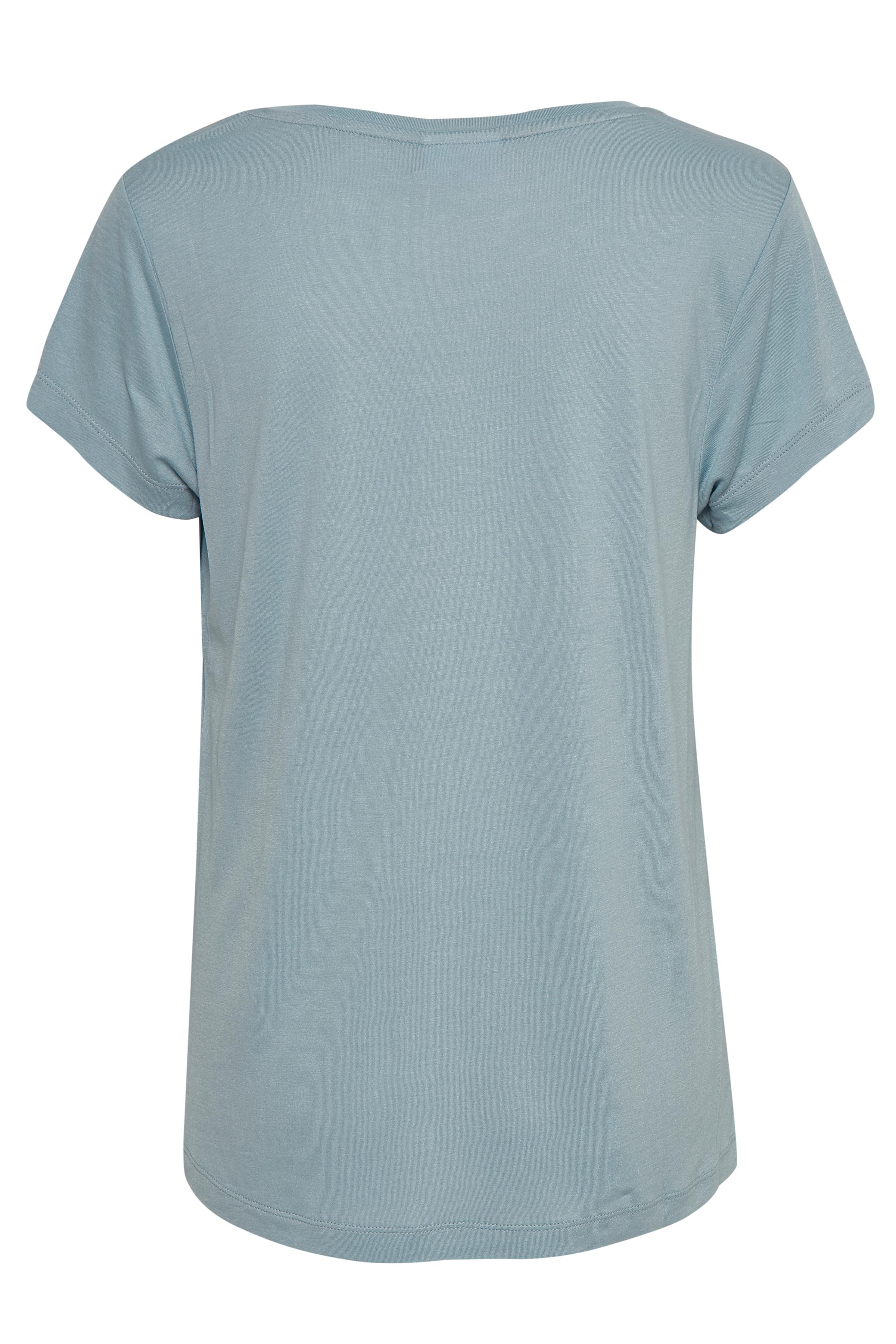 Støvet blå Kortærmet T-shirt fra Kaffe – Køb Støvet blå Kortærmet T-shirt fra str. XS-XXL her