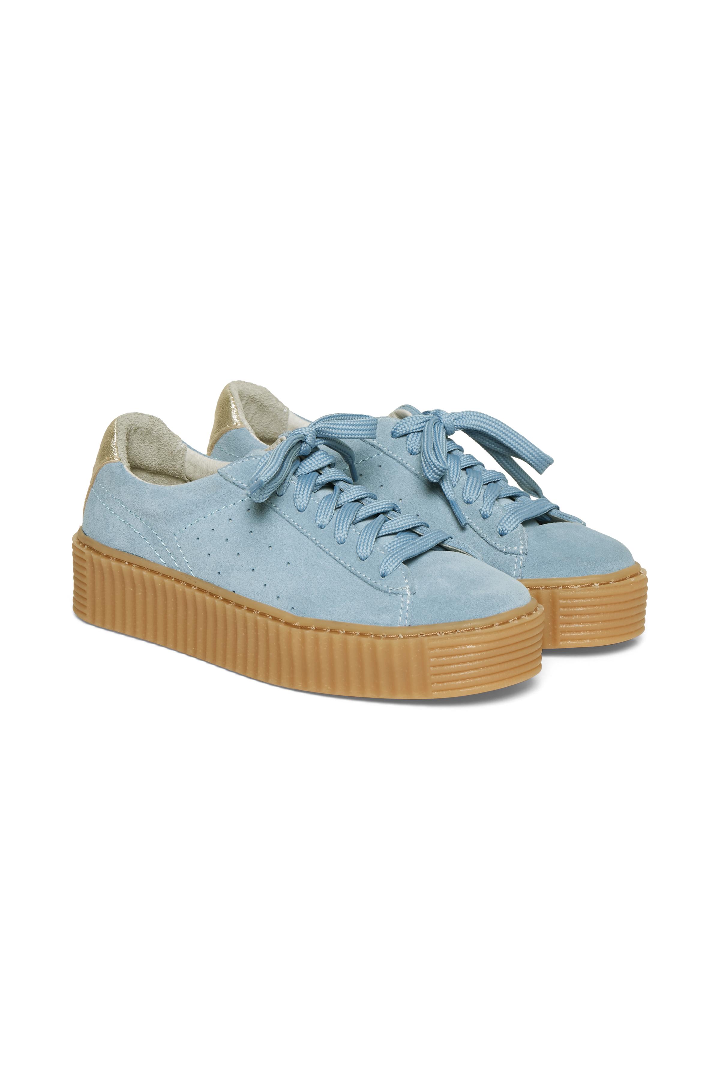 Støvet blå Ruskindssneakers fra Cream Accessories – Køb Støvet blå Ruskindssneakers fra str. 36-41 her