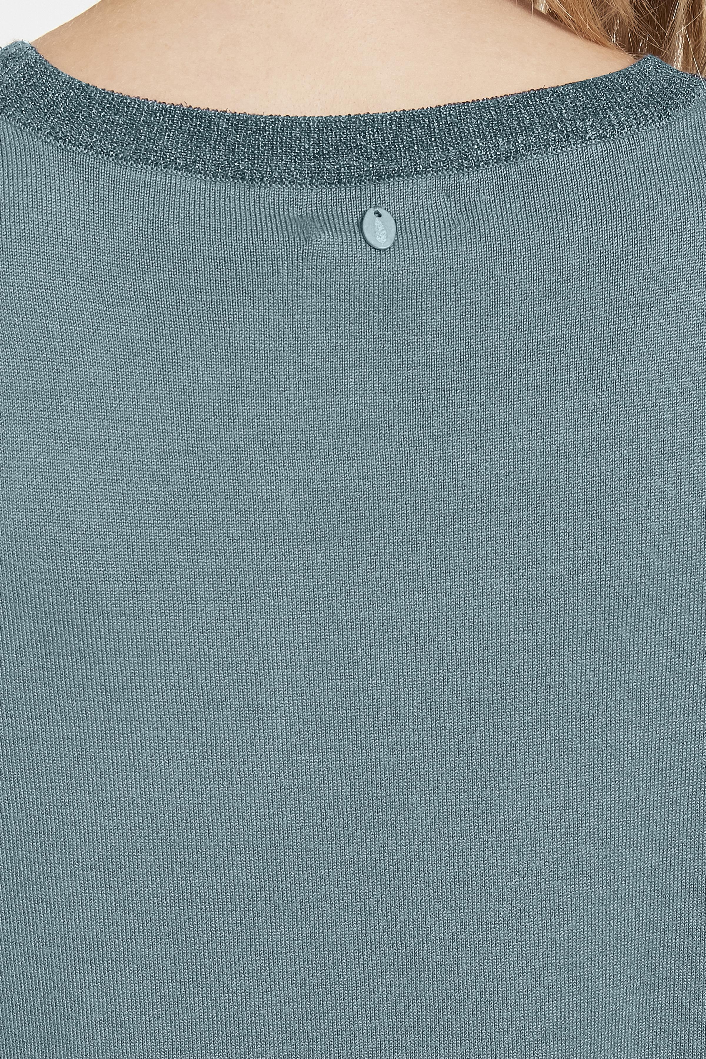 Støvet blå Striktunika fra Bon'A Parte – Køb Støvet blå Striktunika fra str. S-2XL her