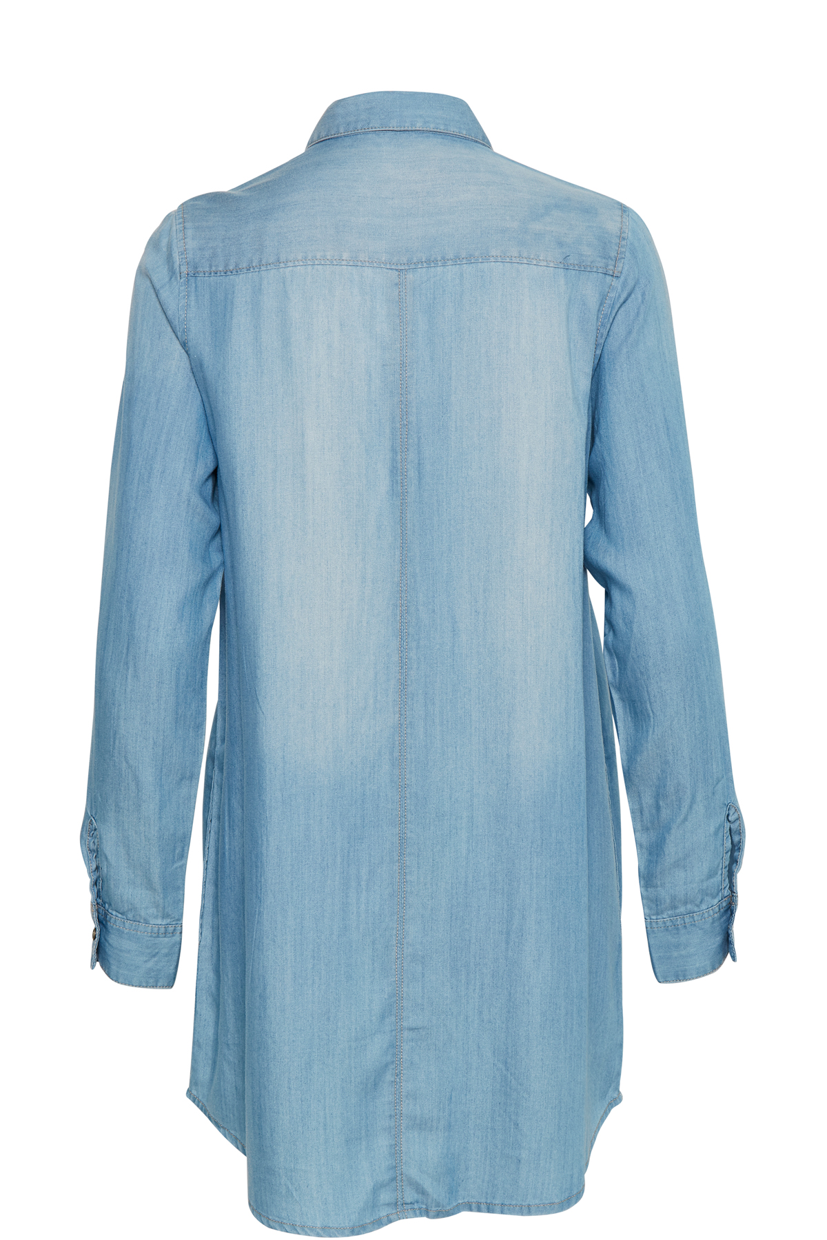 Støvet blå Tunika fra Bon'A Parte – Køb Støvet blå Tunika fra str. S-3XL her