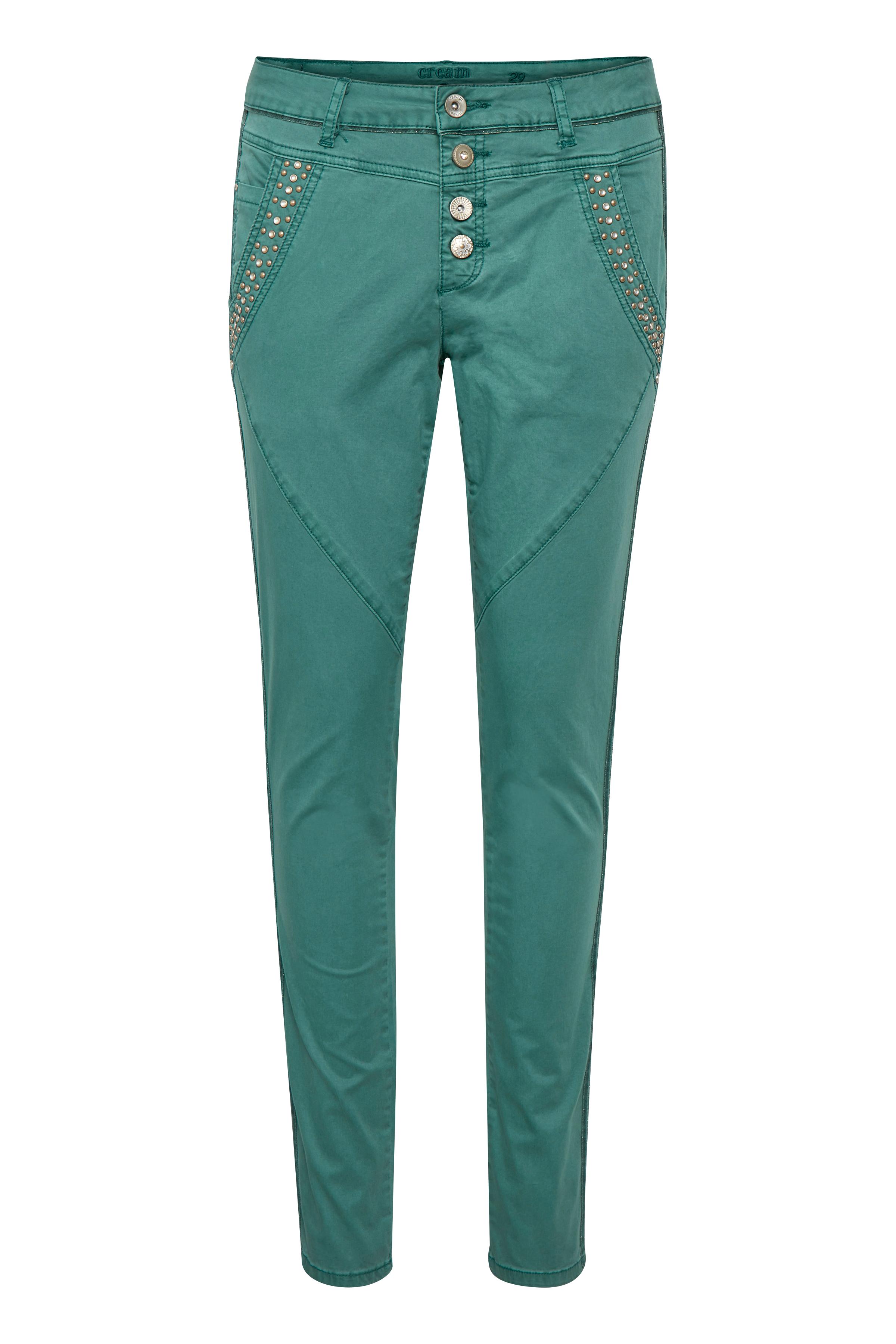 Image of Cream Dame Jeans - Støvet grøn