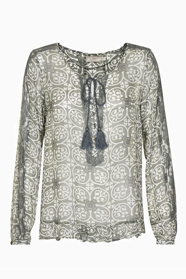 8acce98c7881 Støvet grøn Langærmet bluse fra Cream – Køb Støvet grøn Langærmet bluse fra  str. 34-46 her