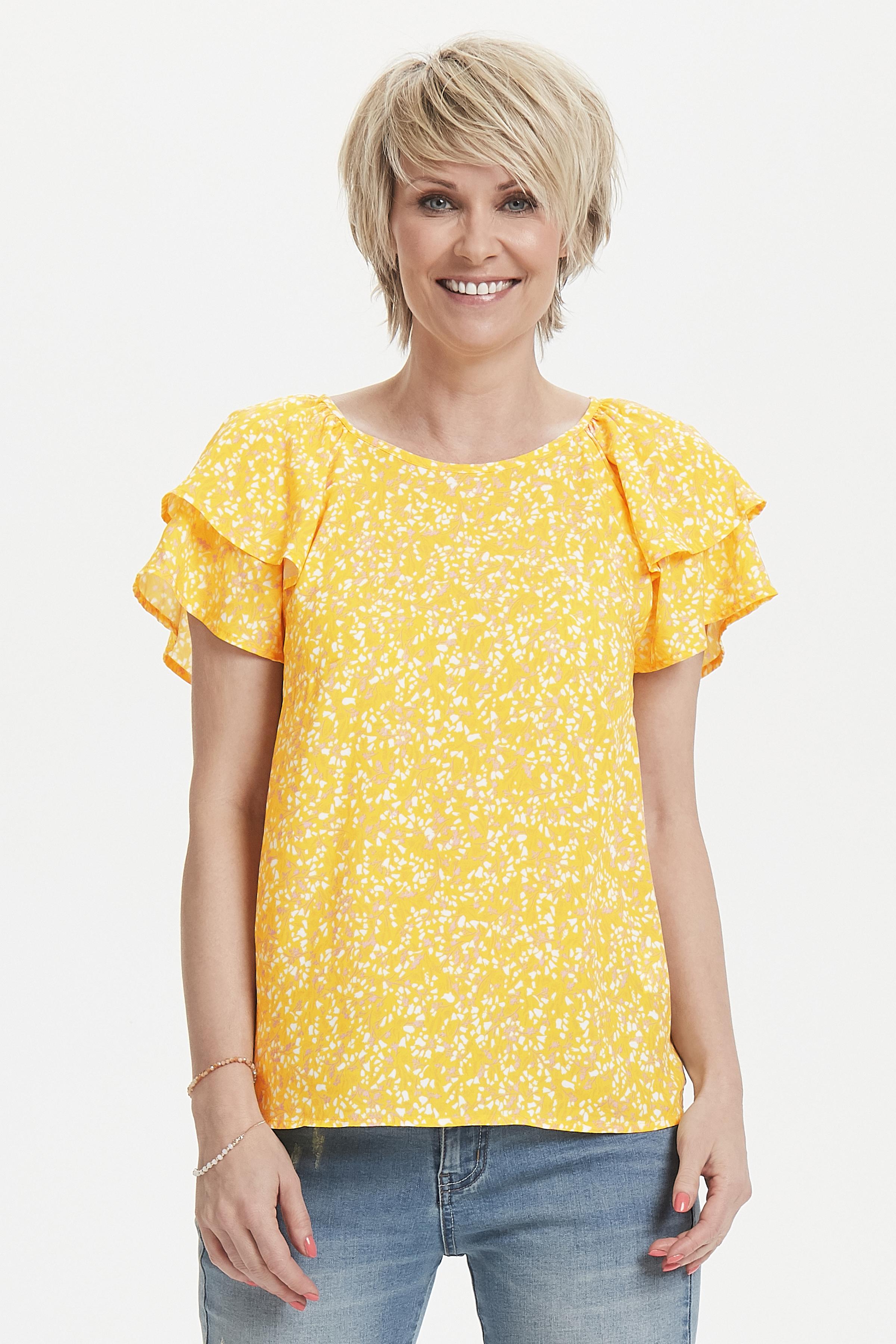 Støvet gul/off-white