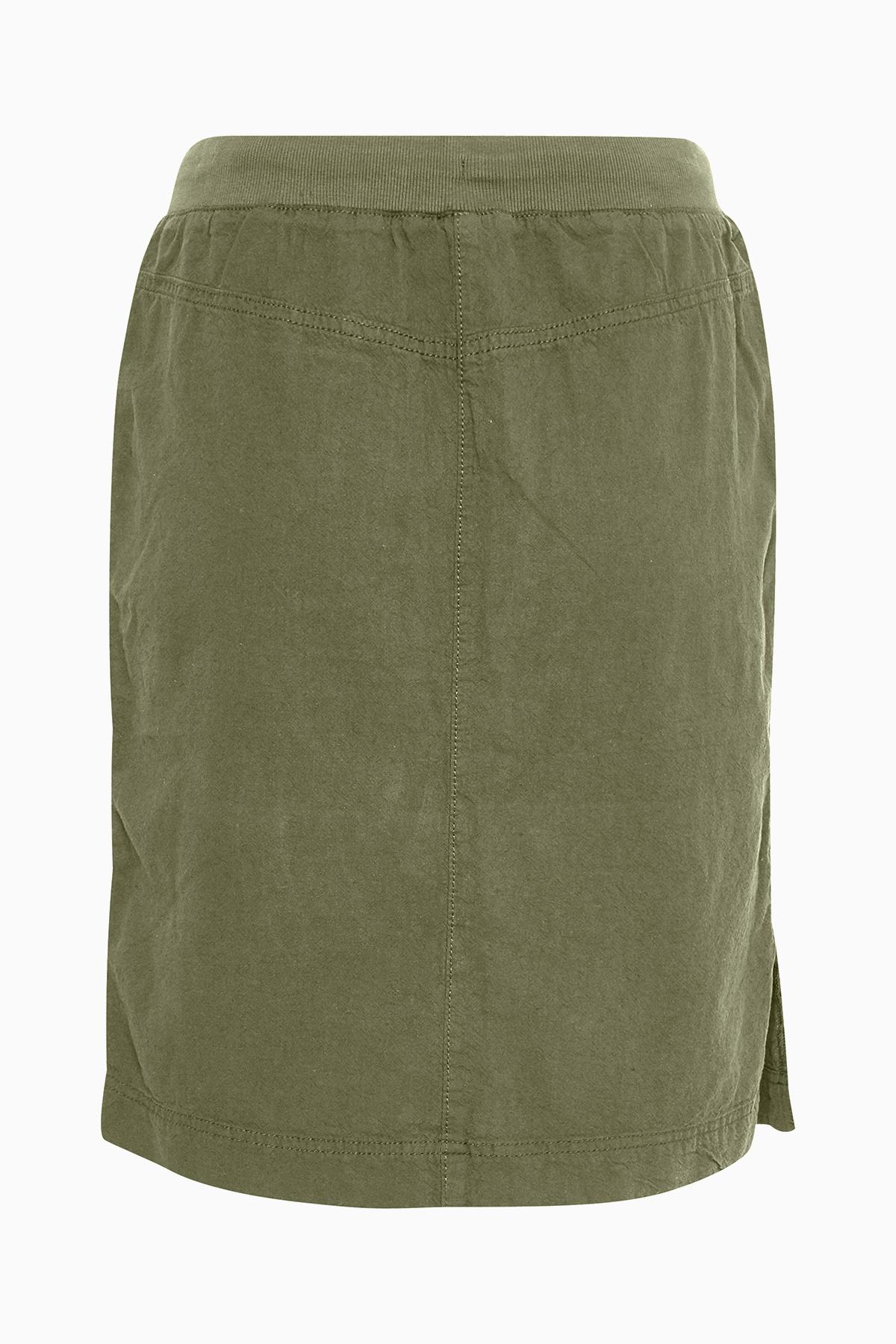 Støvet olivengrøn Nederdel fra Kaffe – Køb Støvet olivengrøn Nederdel fra str. 34-46 her