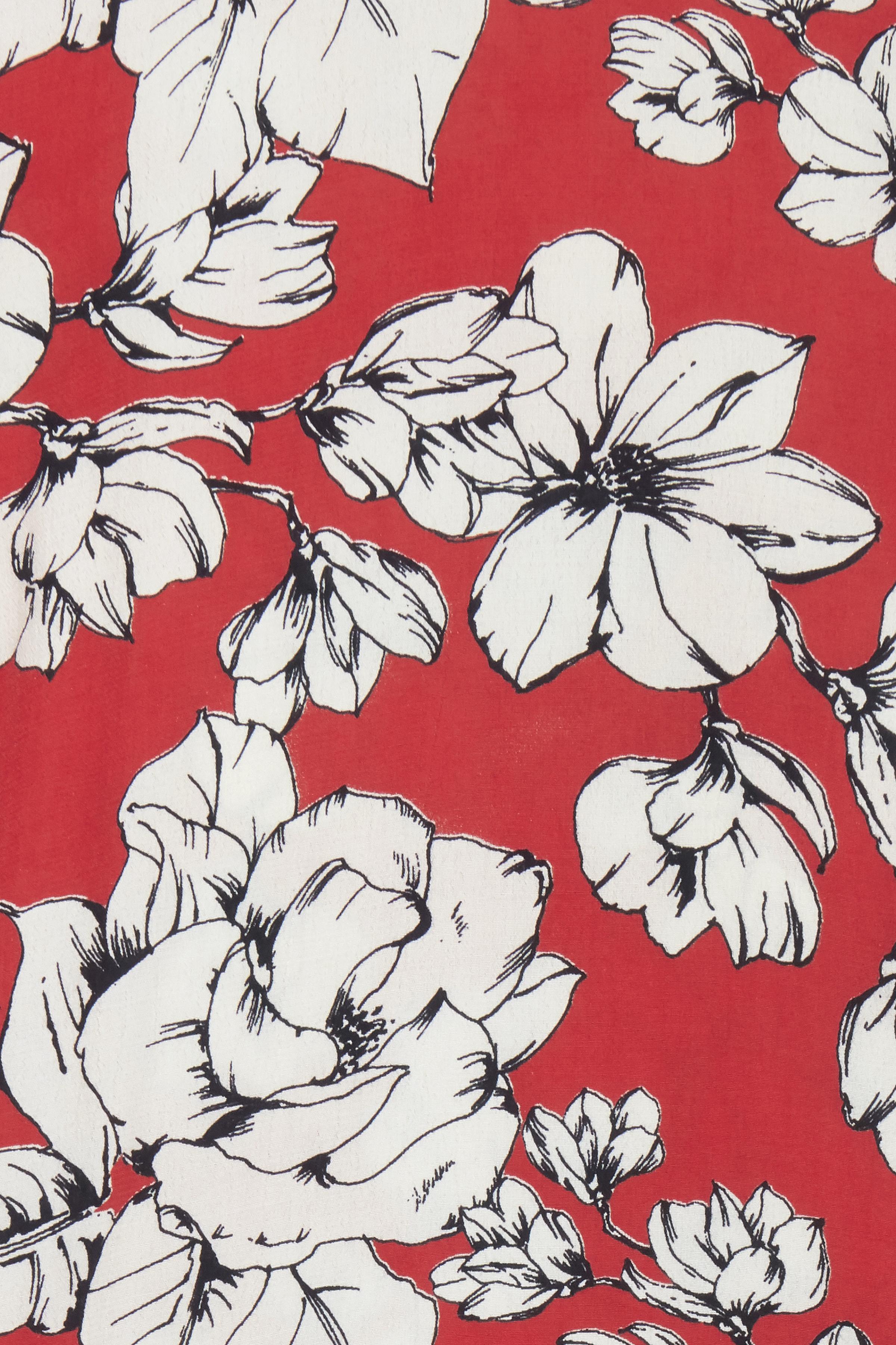 Støvet rød/off-white Kortærmet bluse  fra b.young – Køb Støvet rød/off-white Kortærmet bluse  fra str. 34-46 her