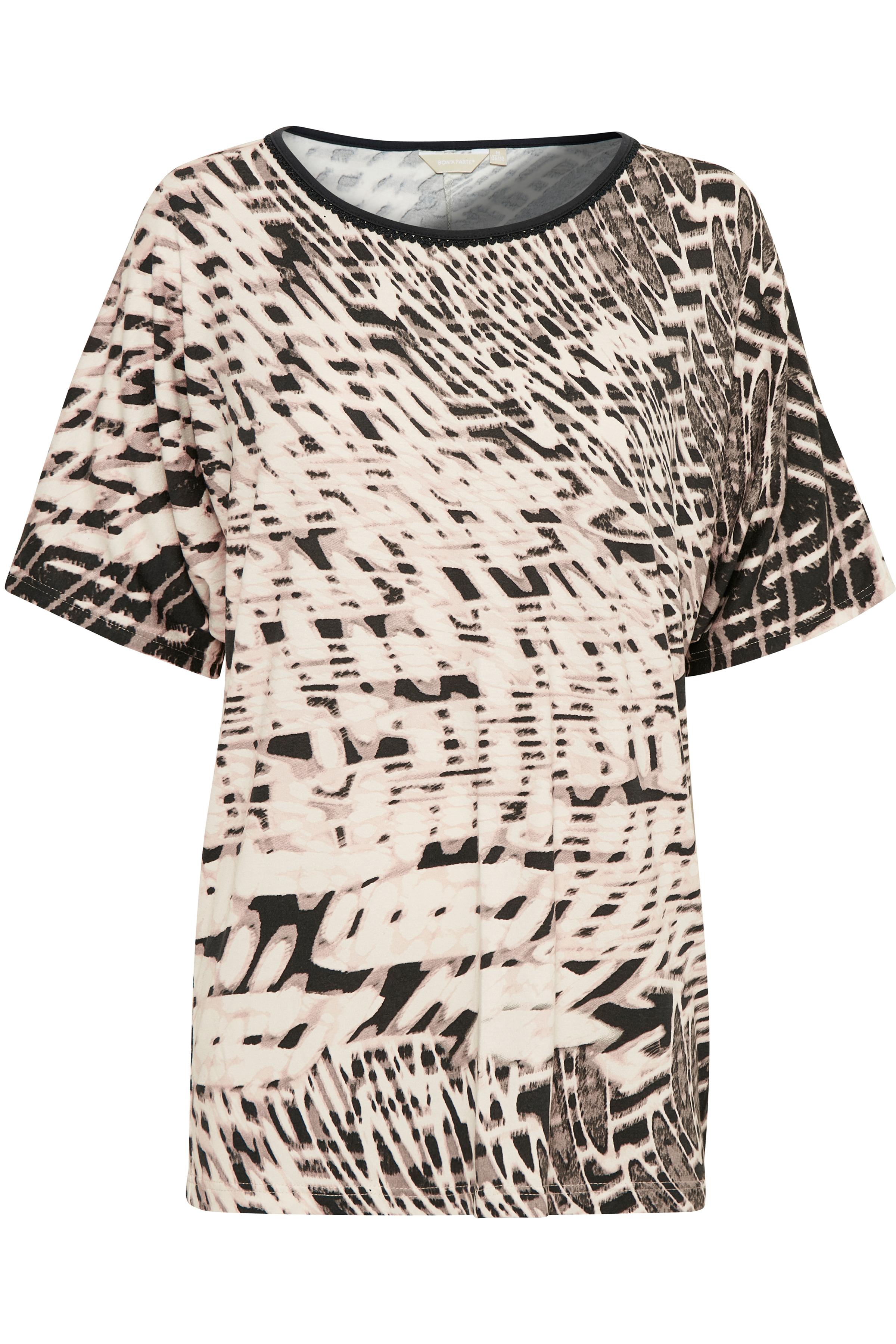 Støvet rosa/grå Kortærmet bluse fra Bon'A Parte – Køb Støvet rosa/grå Kortærmet bluse fra str. S-2XL her