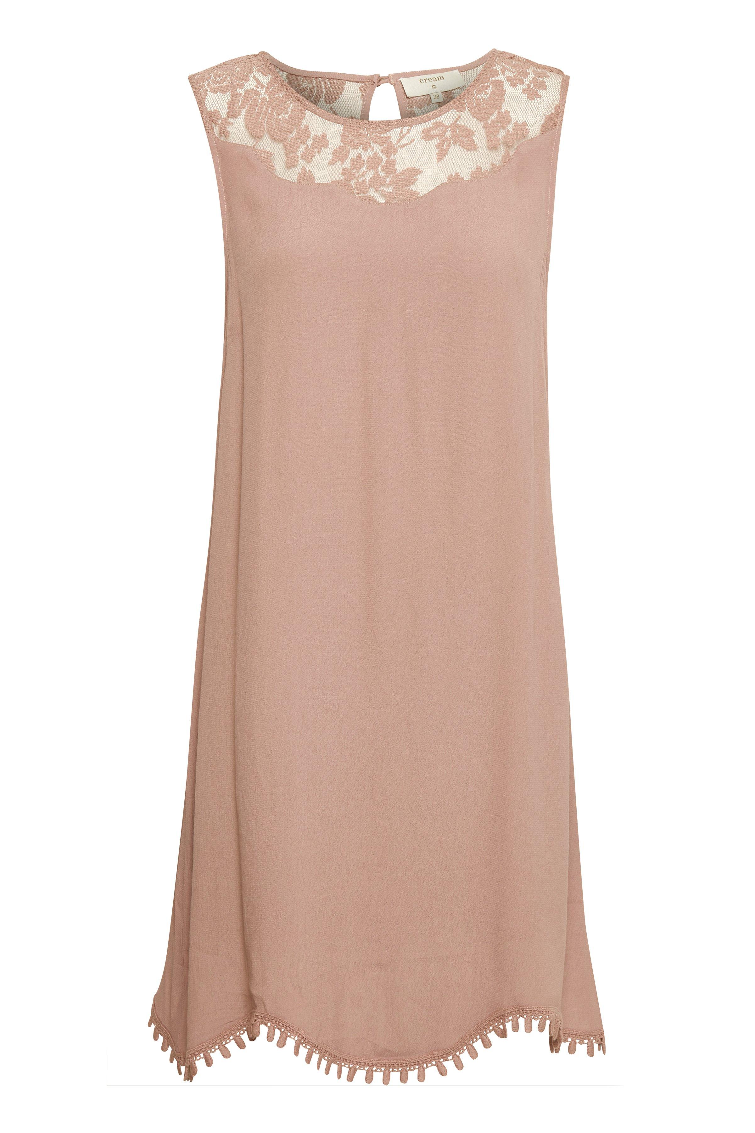 Cream Dame Kjole - Støvet rosa
