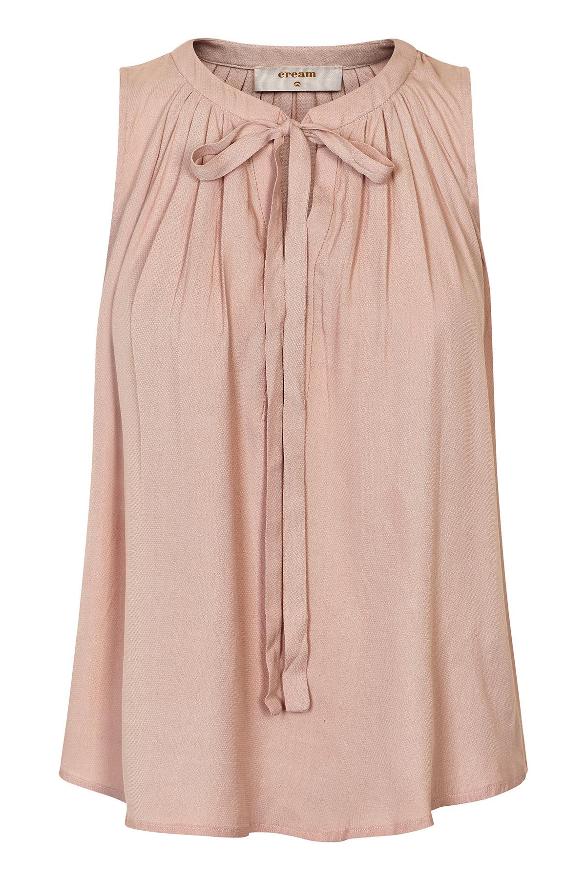 Image of Cream Dame Kortærmet bluse - Støvet rosa