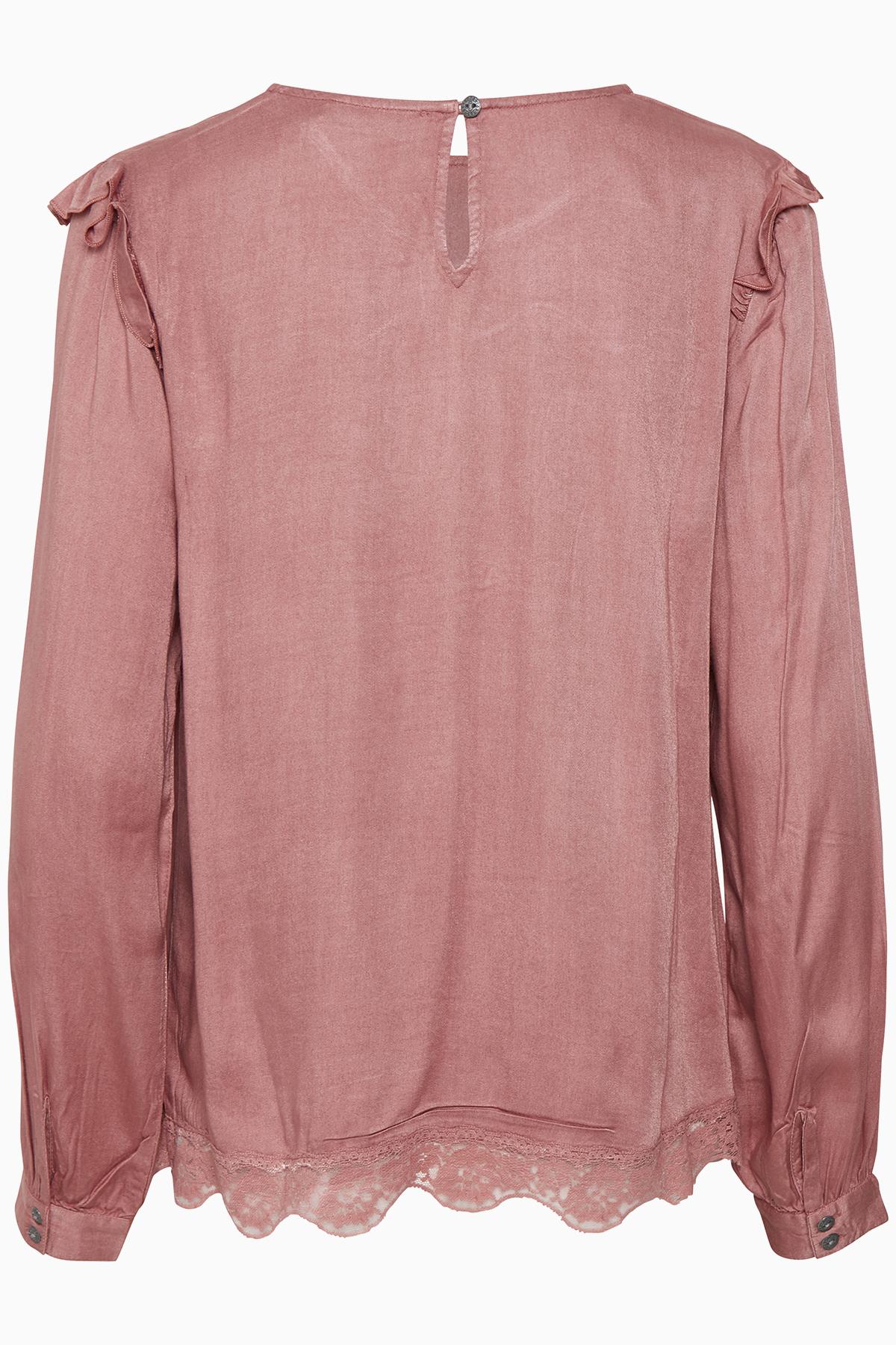 Støvet rosa Langærmet bluse fra Cream – Køb Støvet rosa Langærmet bluse fra str. 34-46 her