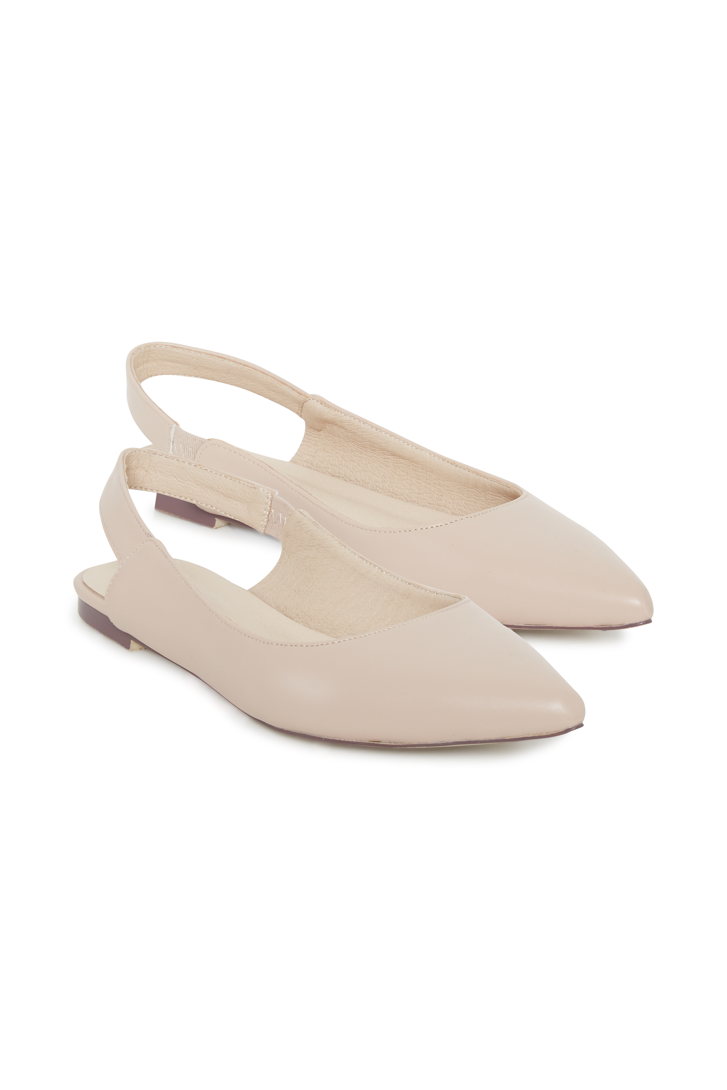 Ichi - accessories Dame Sling-back sko med spids snude  - Støvet rosa