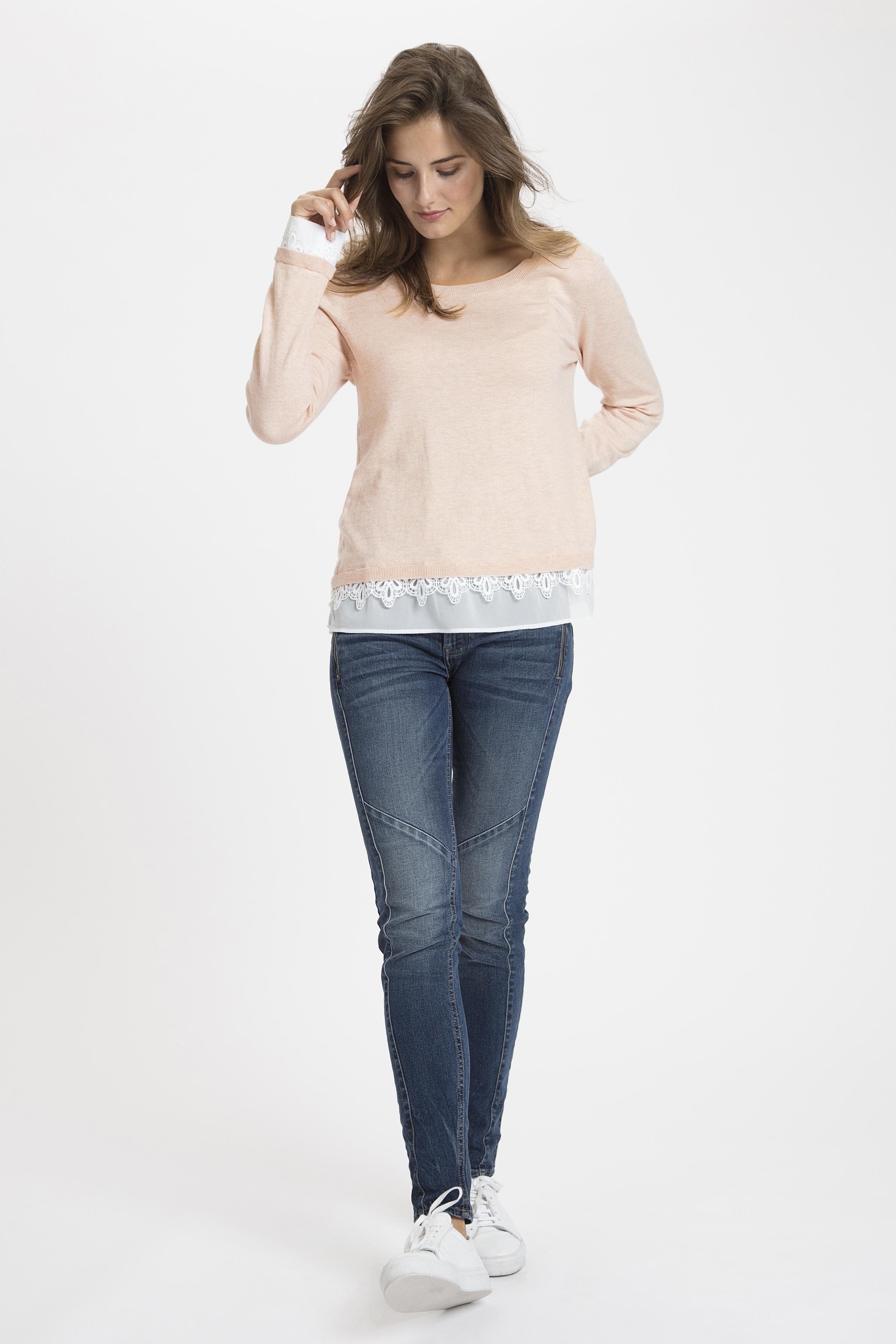 Støvet rosa Strikpullover fra Cream – Køb Støvet rosa Strikpullover fra str. XS-XXL her