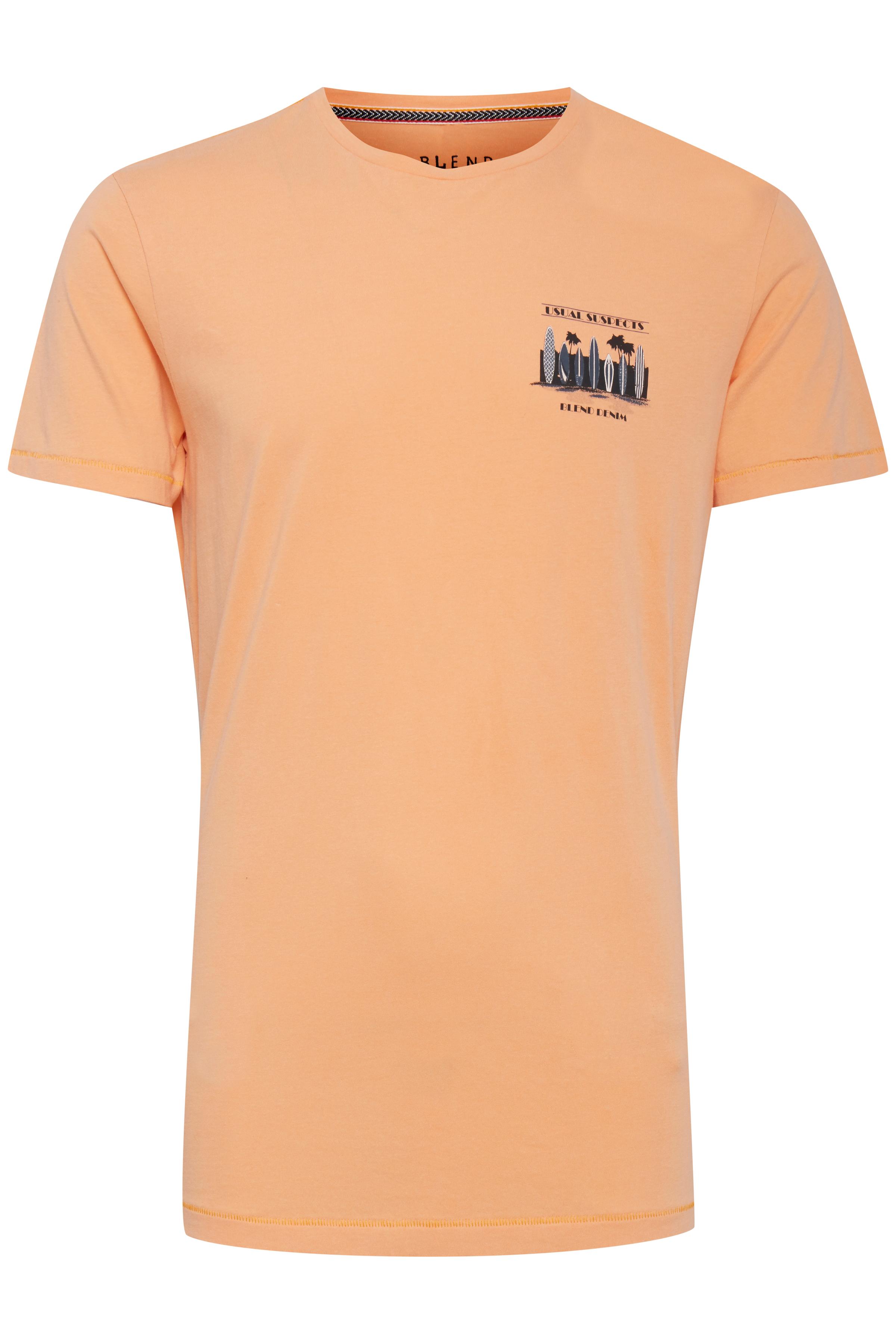 Image of Blend He Herre Kortærmet T-shirt - Sun Orange