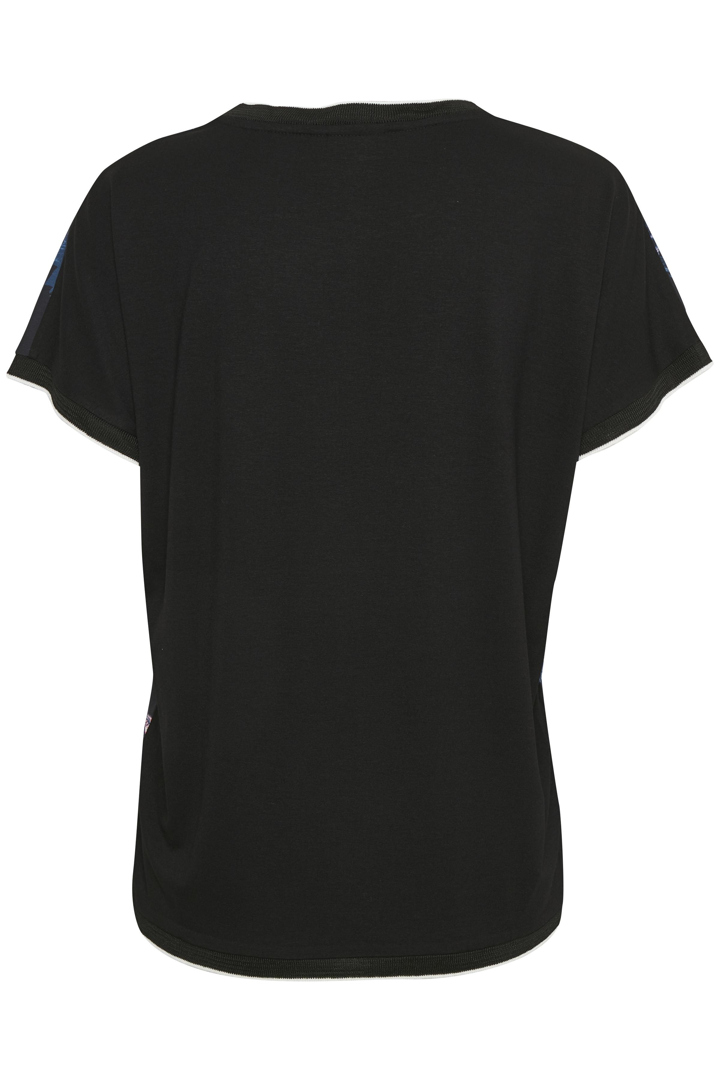 Svart/blå Kortärmad T-shirt från b.young – Köp Svart/blå Kortärmad T-shirt från stl. XS-XXL här