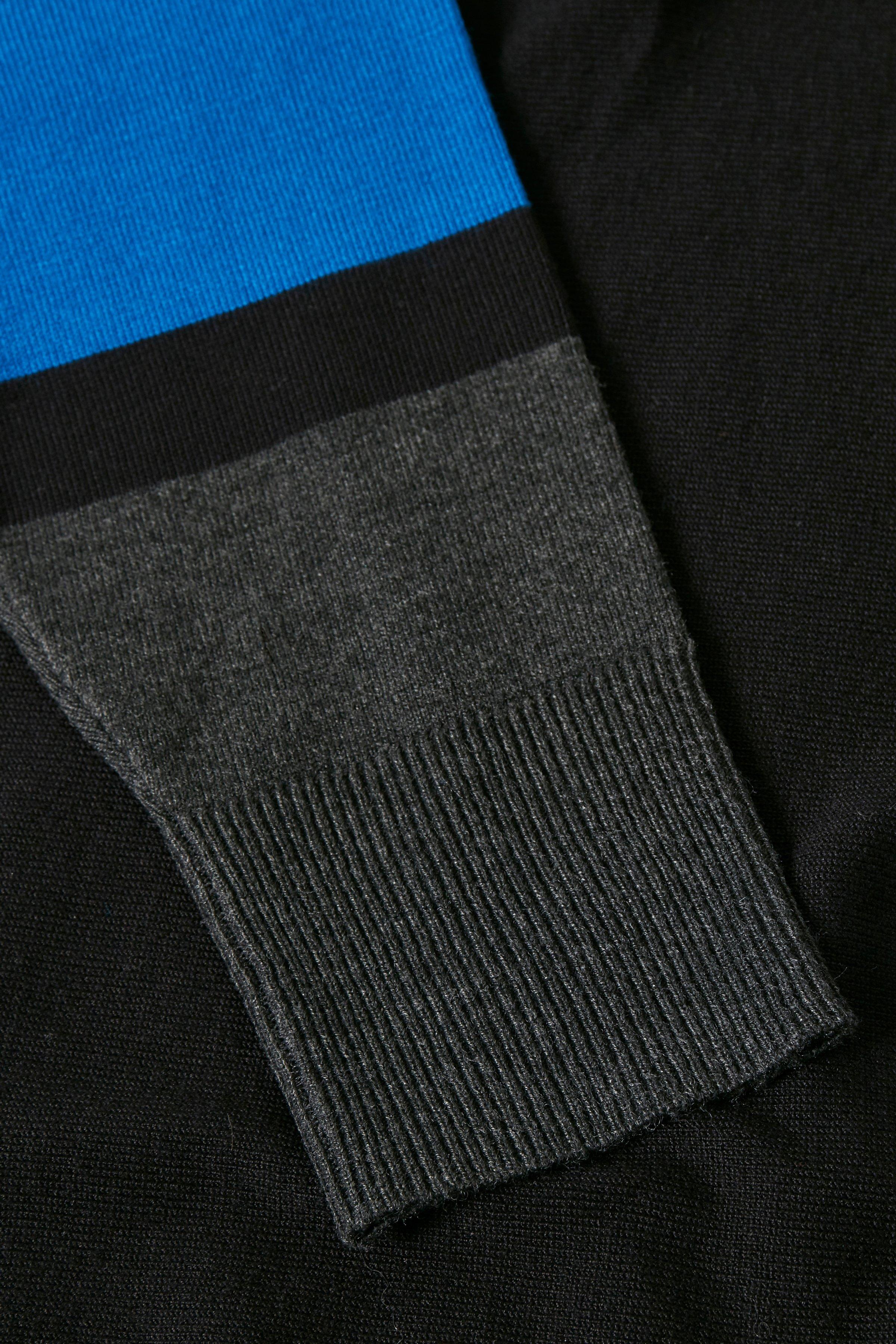 Svart/blå Stickad pullover från Bon'A Parte – Köp Svart/blå Stickad pullover från stl. S-2XL här