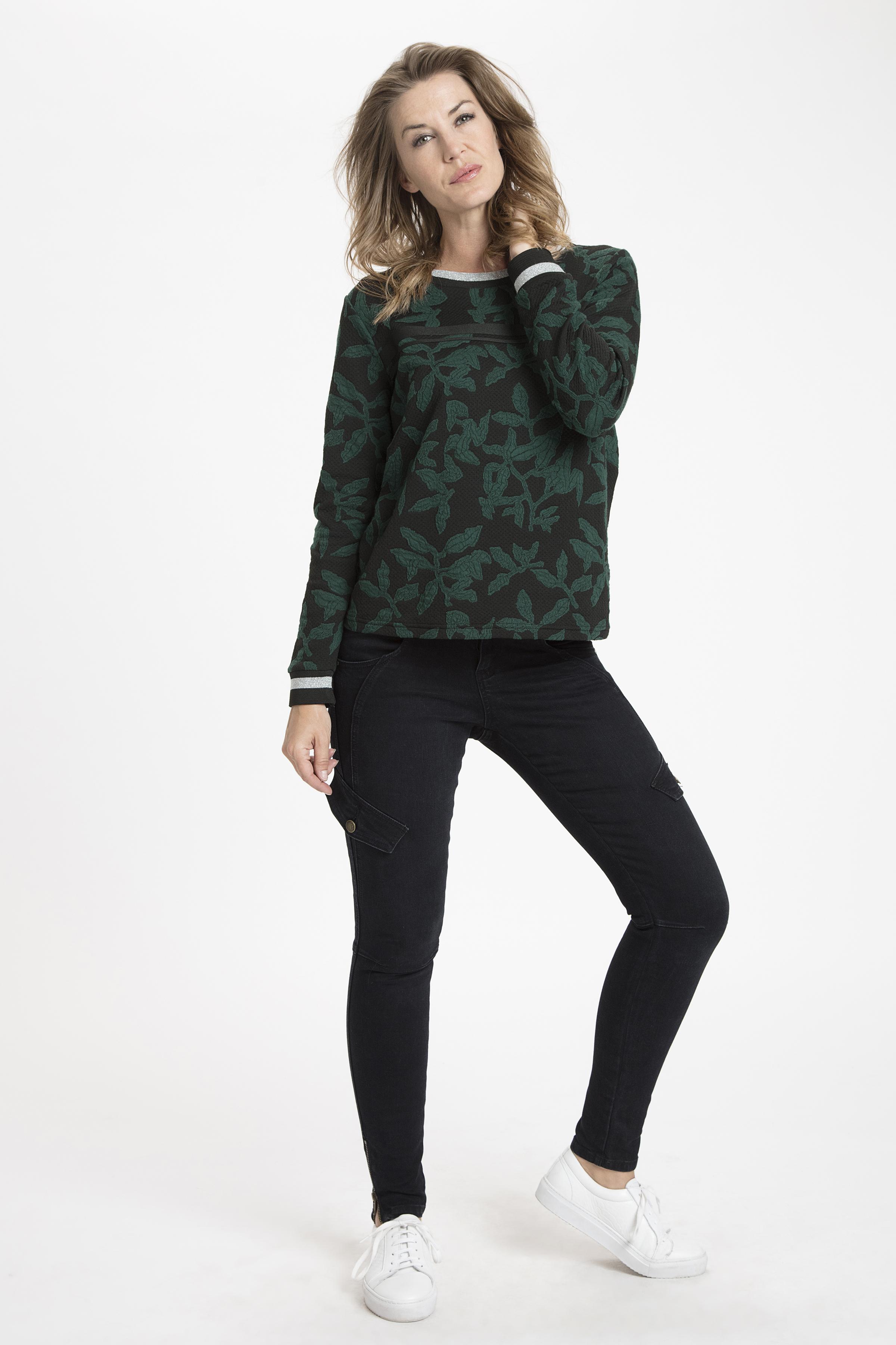 Svart/buteljgrön Sweatshirt från Dranella – Köp Svart/buteljgrön Sweatshirt från stl. XS-XXL här