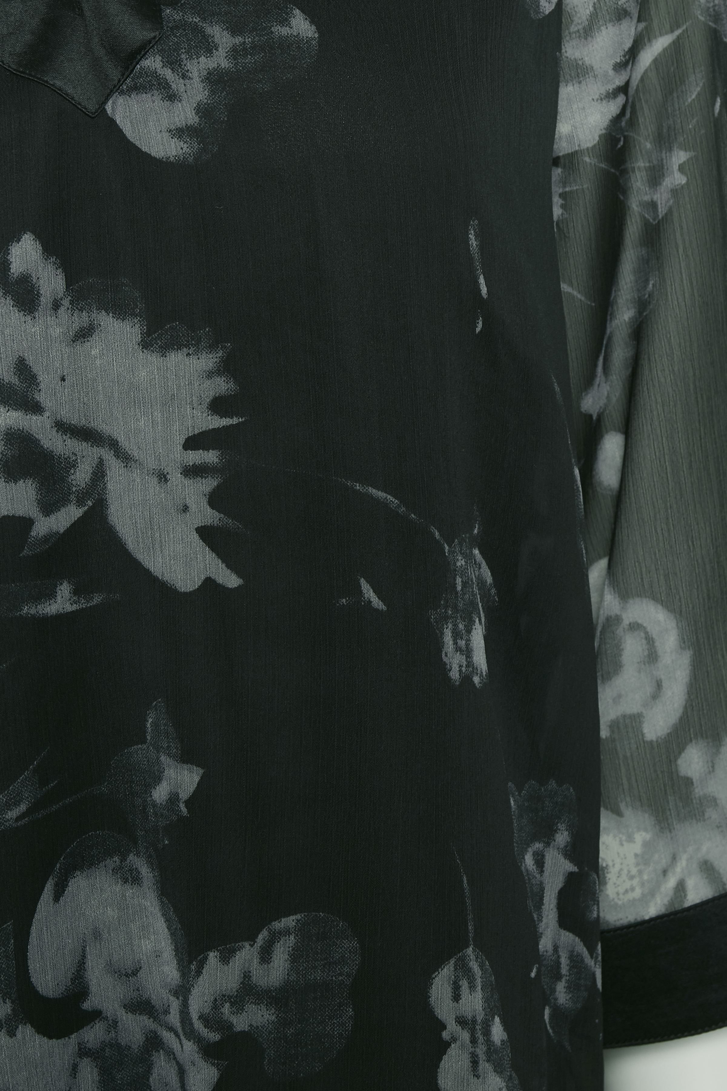 Svart/grå Långärmad blus från Bon'A Parte – Köp Svart/grå Långärmad blus från stl. S-2XL här