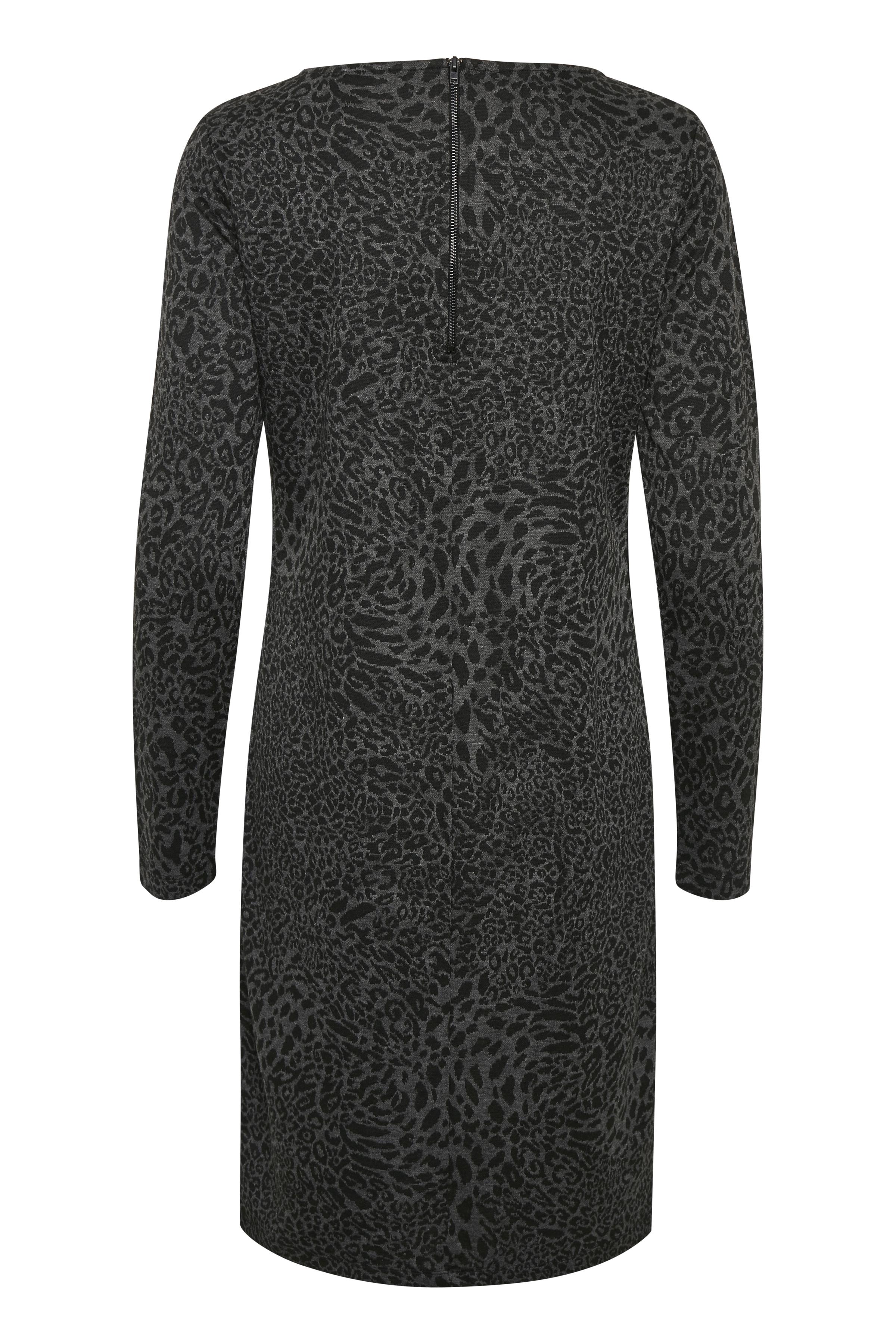 Svart/grå Strickad klänning från Bon'A Parte – Köp Svart/grå Strickad klänning från stl. S-2XL här