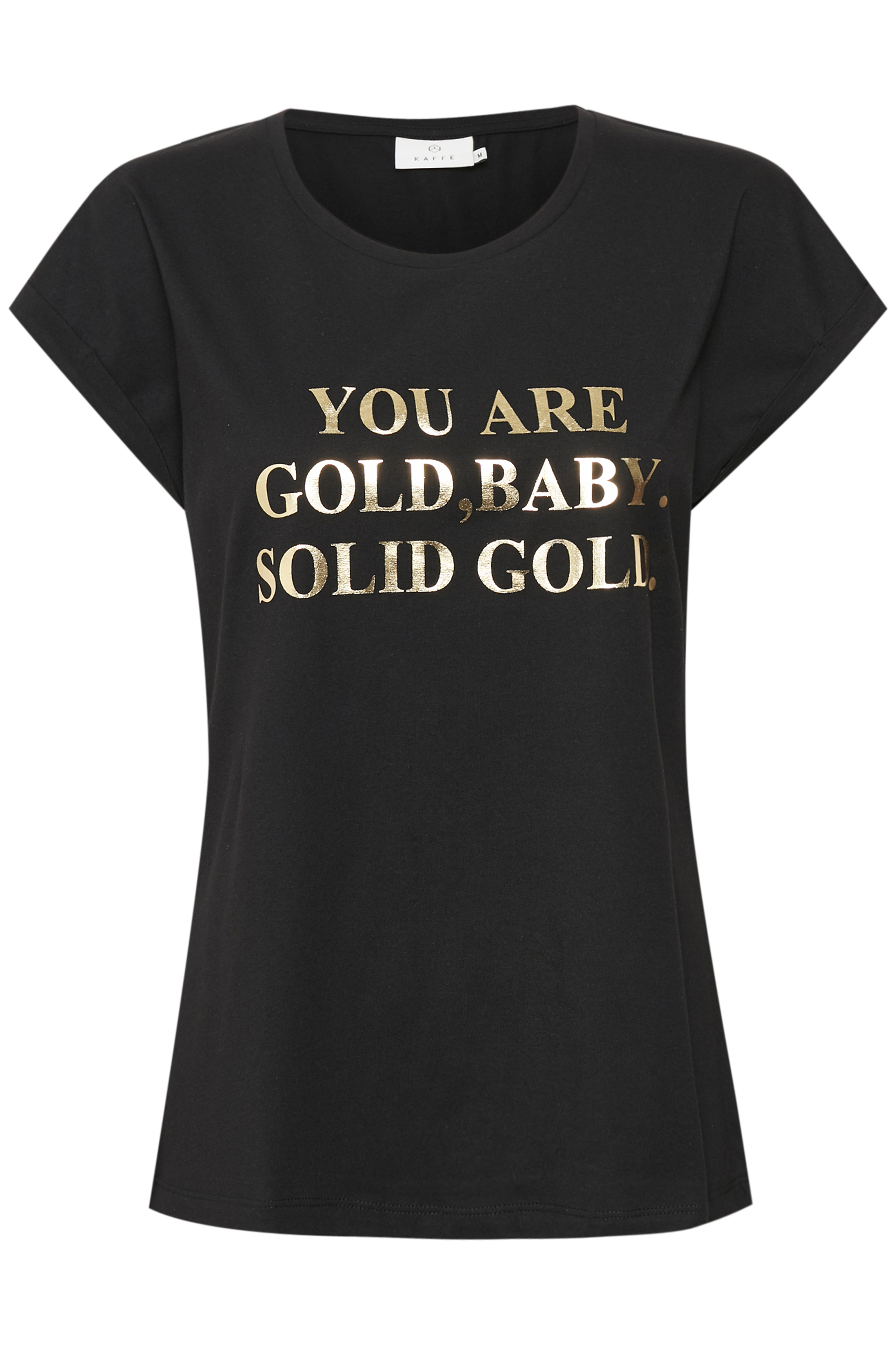 Svart/guld Kortärmad T-shirt från Kaffe – Köp Svart/guld Kortärmad T-shirt från stl. XS-XXL här