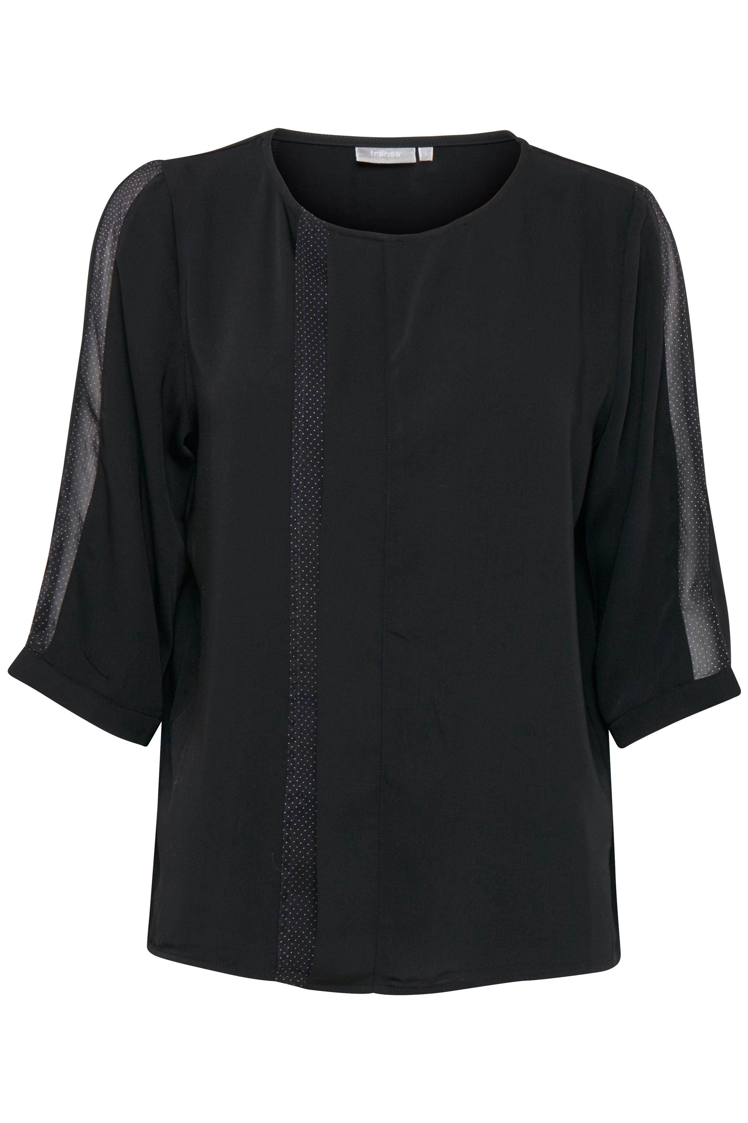 Svart Kortärmad blus från Fransa – Köp Svart Kortärmad blus från stl. XS-XXL här
