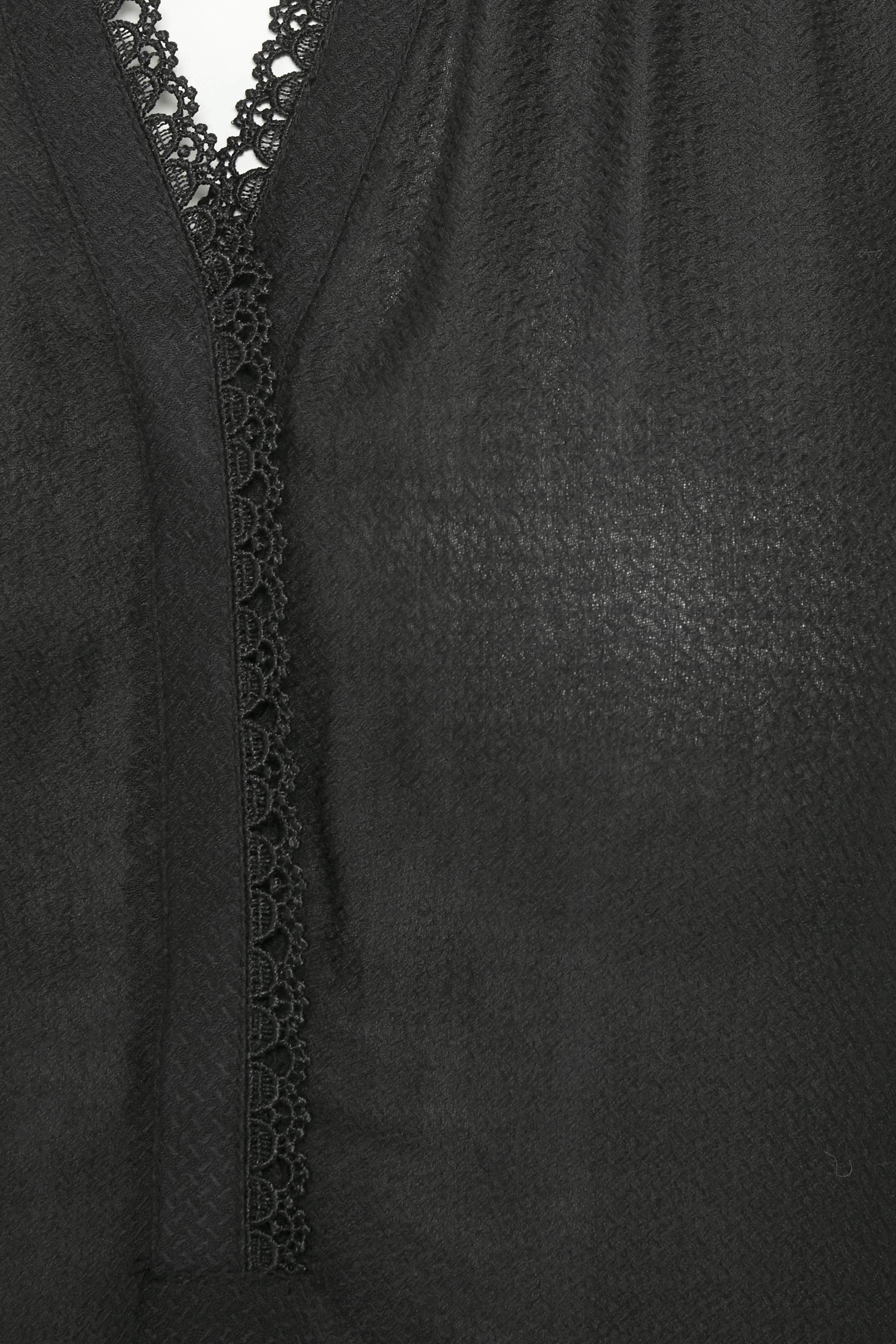 Svart Långärmad blus från Bon'A Parte – Köp Svart Långärmad blus från stl. S-2XL här