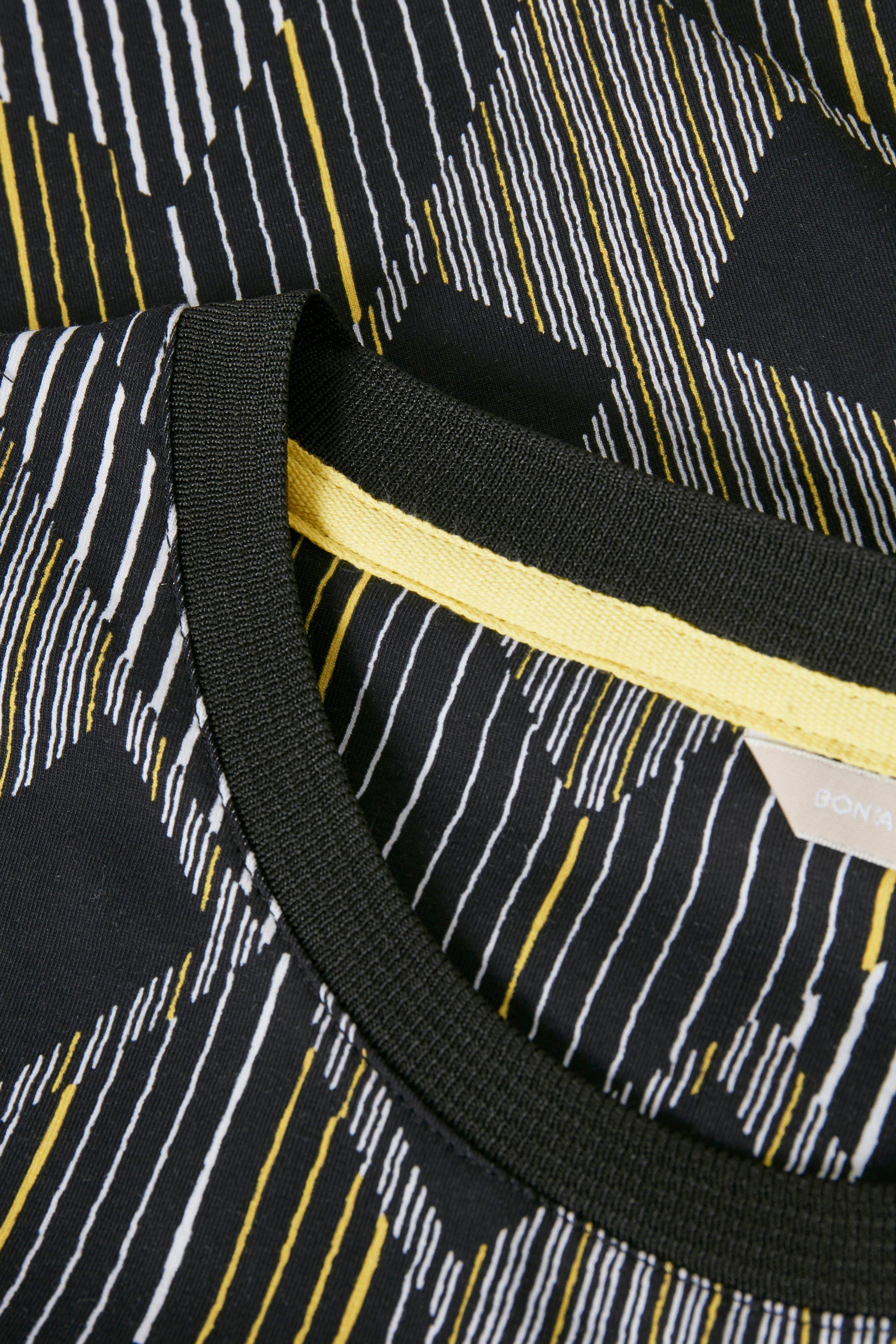 Svart/ljus gul Klänning från Bon'A Parte – Köp Svart/ljus gul Klänning från stl. S-2XL här