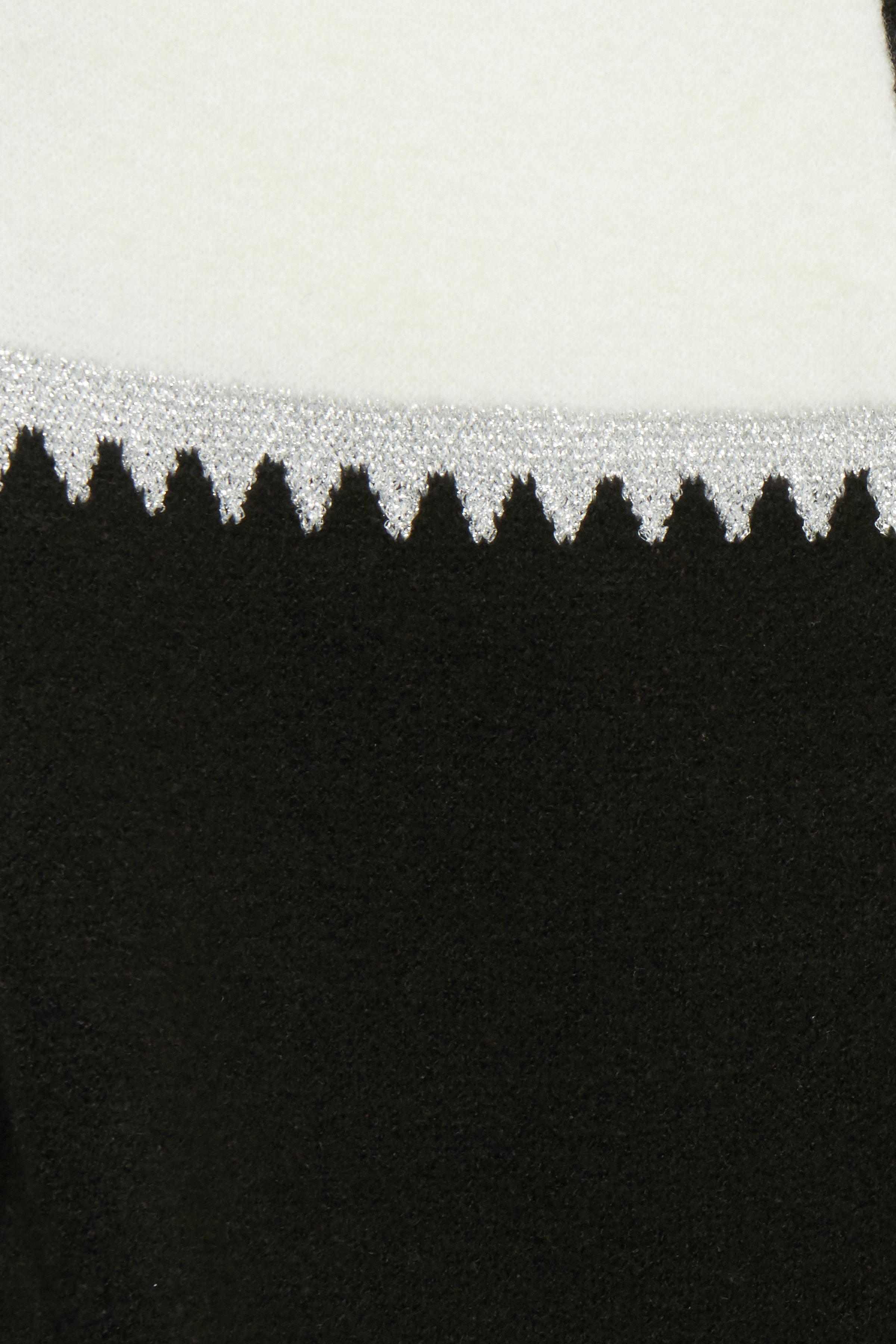 Svart/off-white Stickad cardigan från Fransa – Köp Svart/off-white Stickad cardigan från stl. XS-XXL här