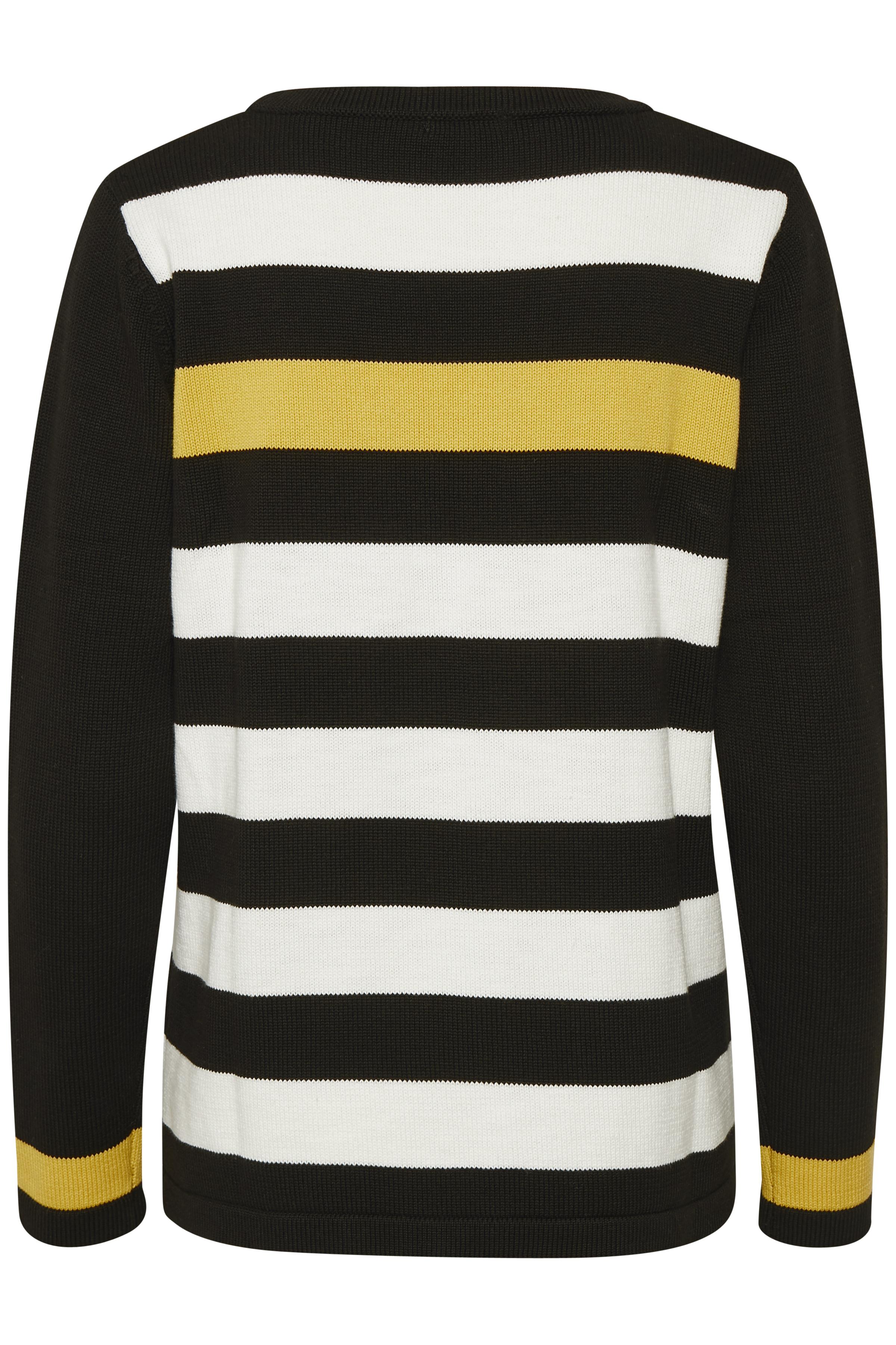 Svart/off-white Stickad pullover från Bon'A Parte – Köp Svart/off-white Stickad pullover från stl. S-2XL här