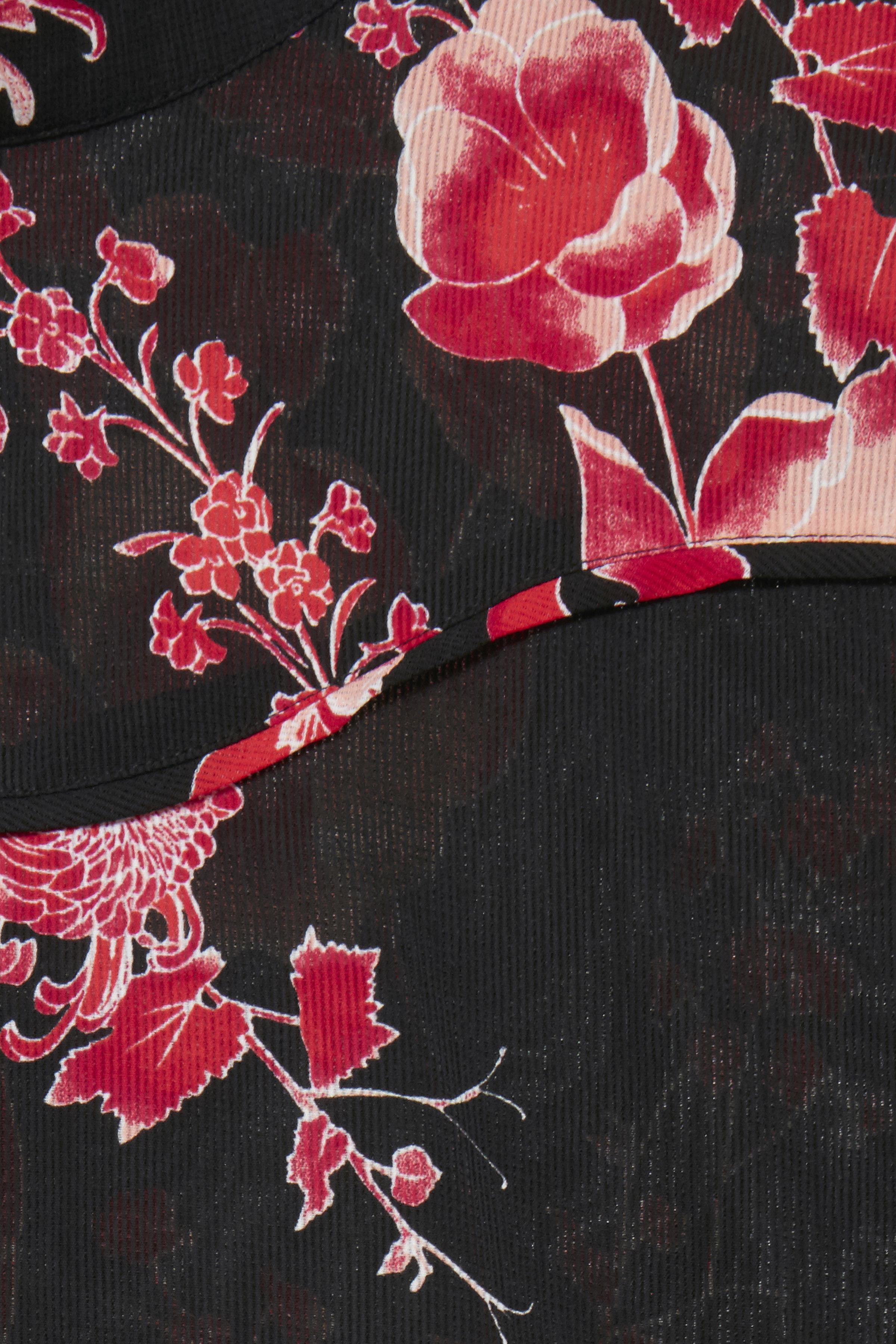 Svart/röd Långärmad blus från Dranella – Köp Svart/röd Långärmad blus från stl. XS-XXL här