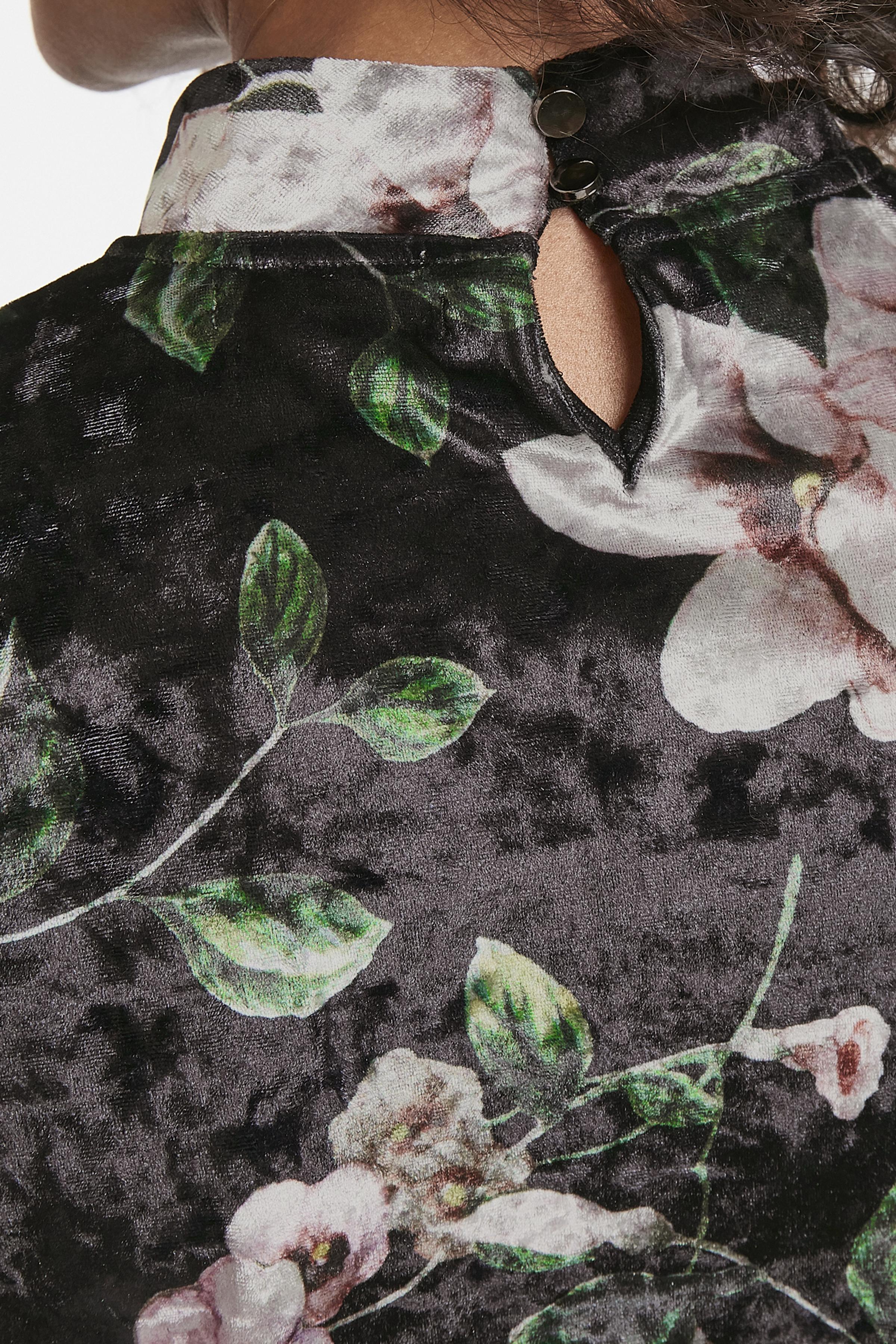 Svart/rosa Långärmad blus från Bon'A Parte – Köp Svart/rosa Långärmad blus från stl. S-2XL här